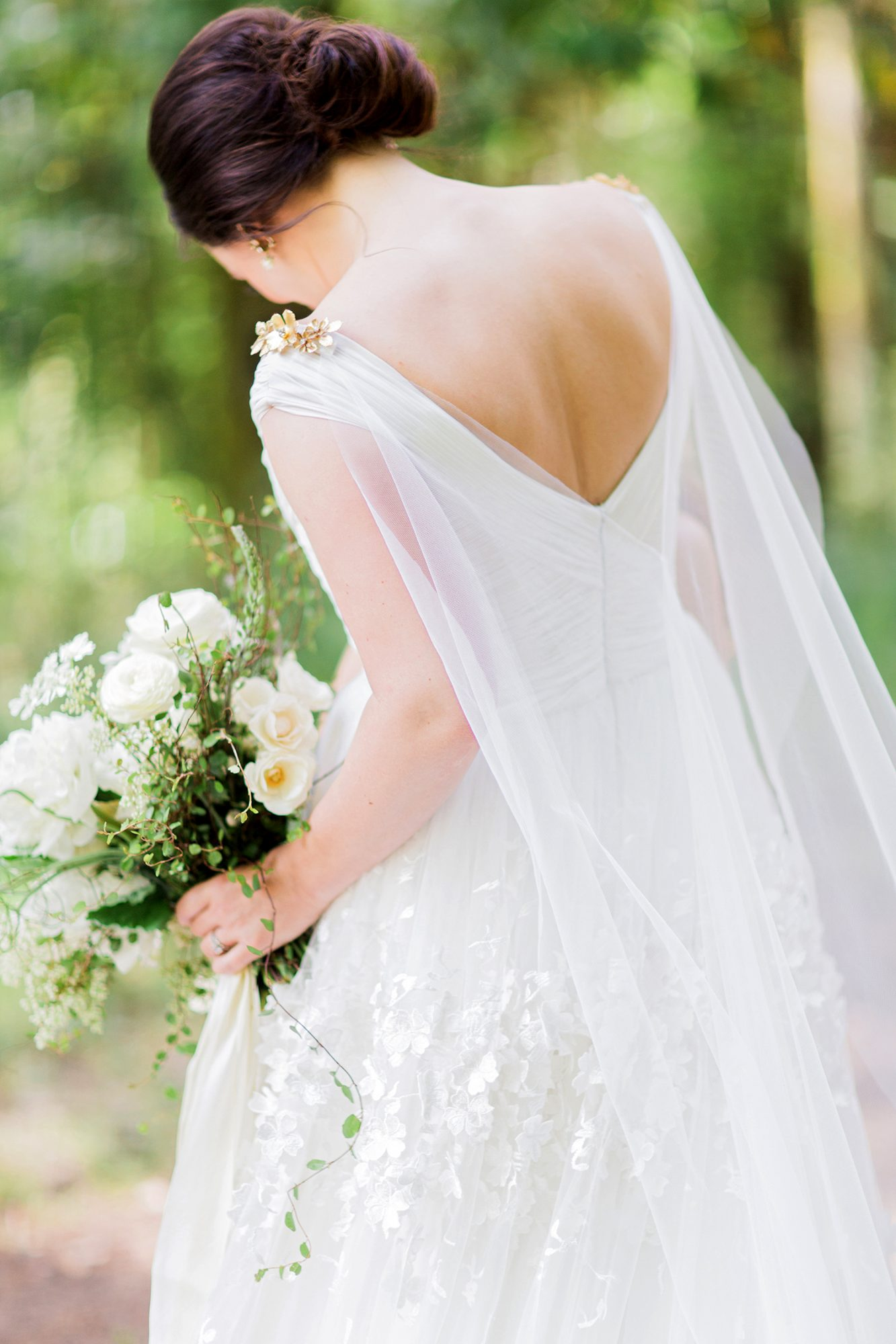 cassandra jason wedding dress and cape