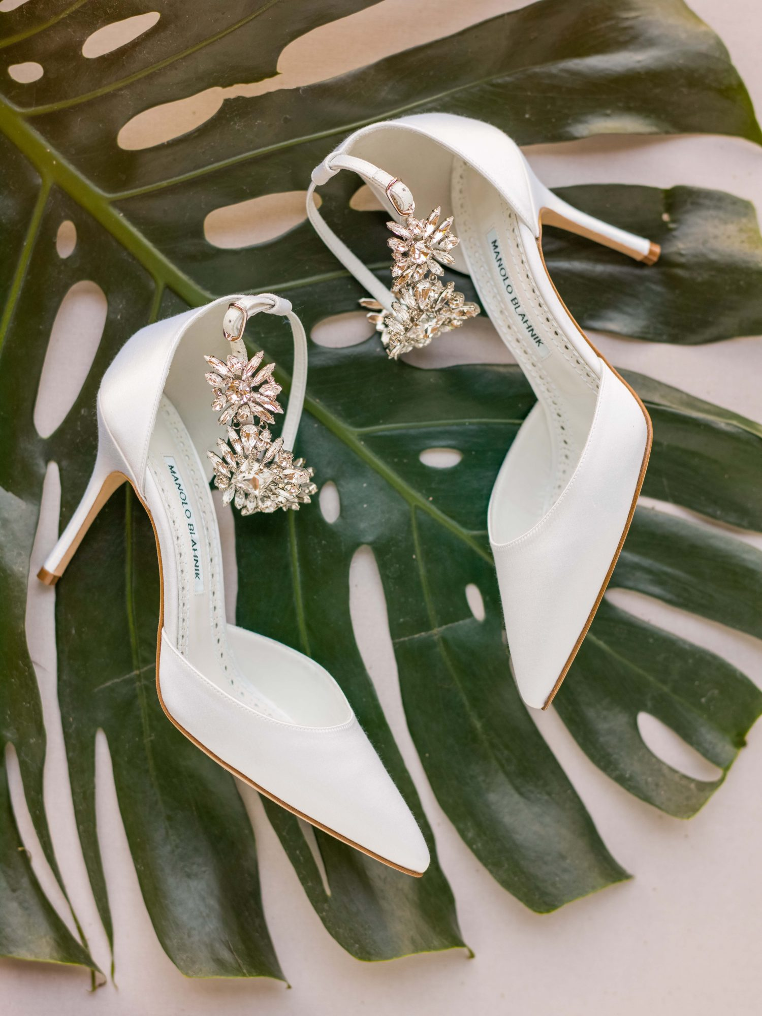 hawaiian wedding bride shoes sparkly ivory