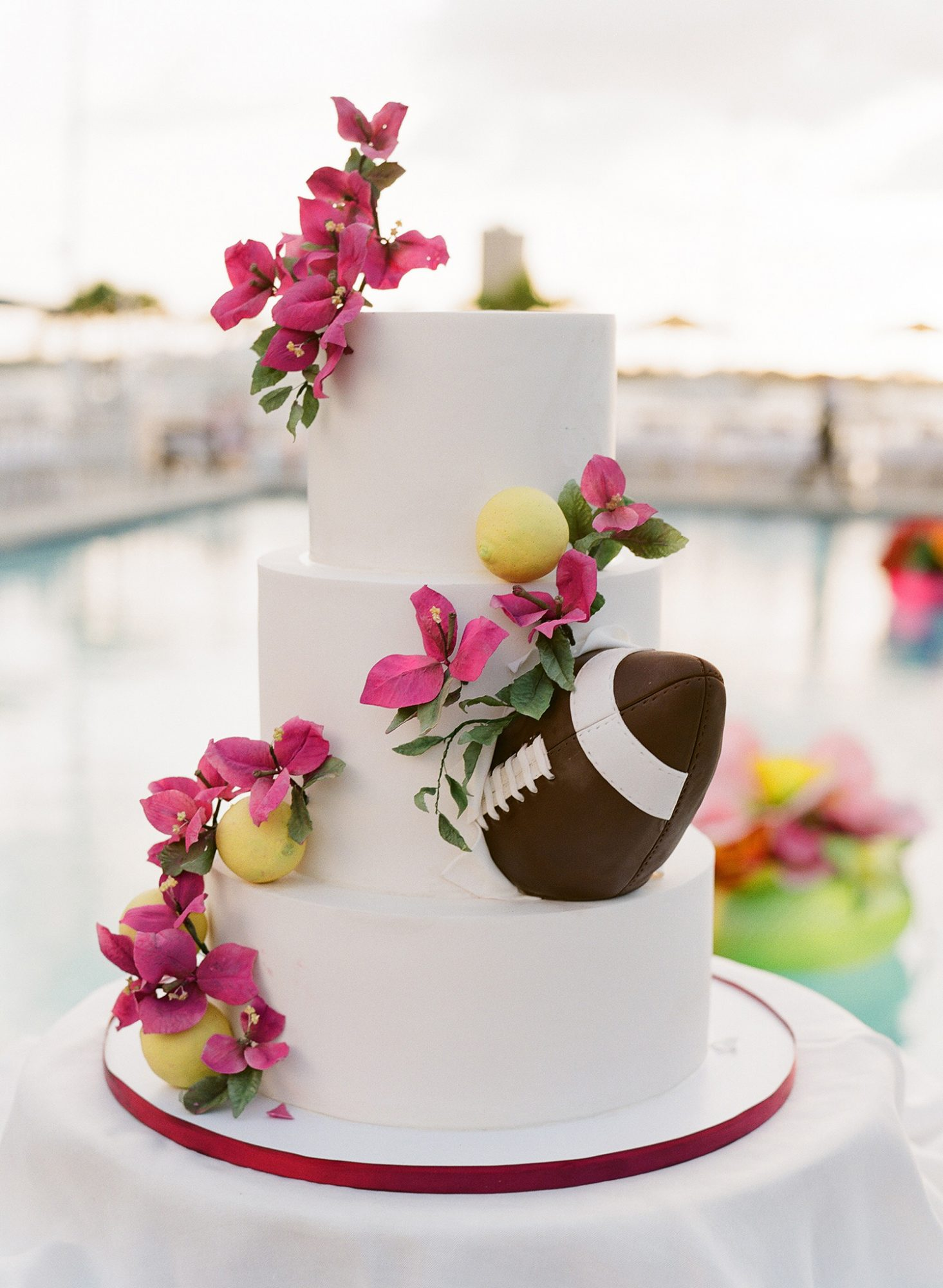 chelsea conor wedding welcome party football grooms cake