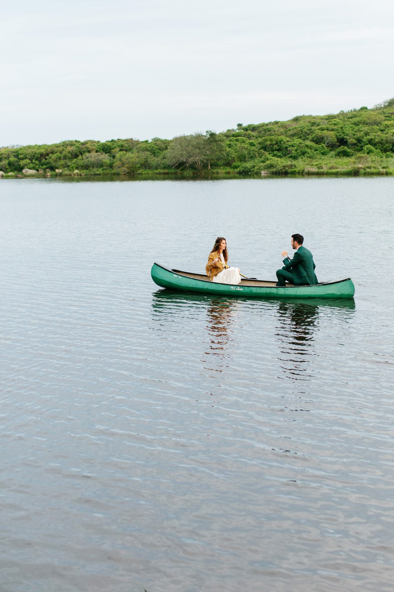 molly ed wedding couple bride groom canoe lake
