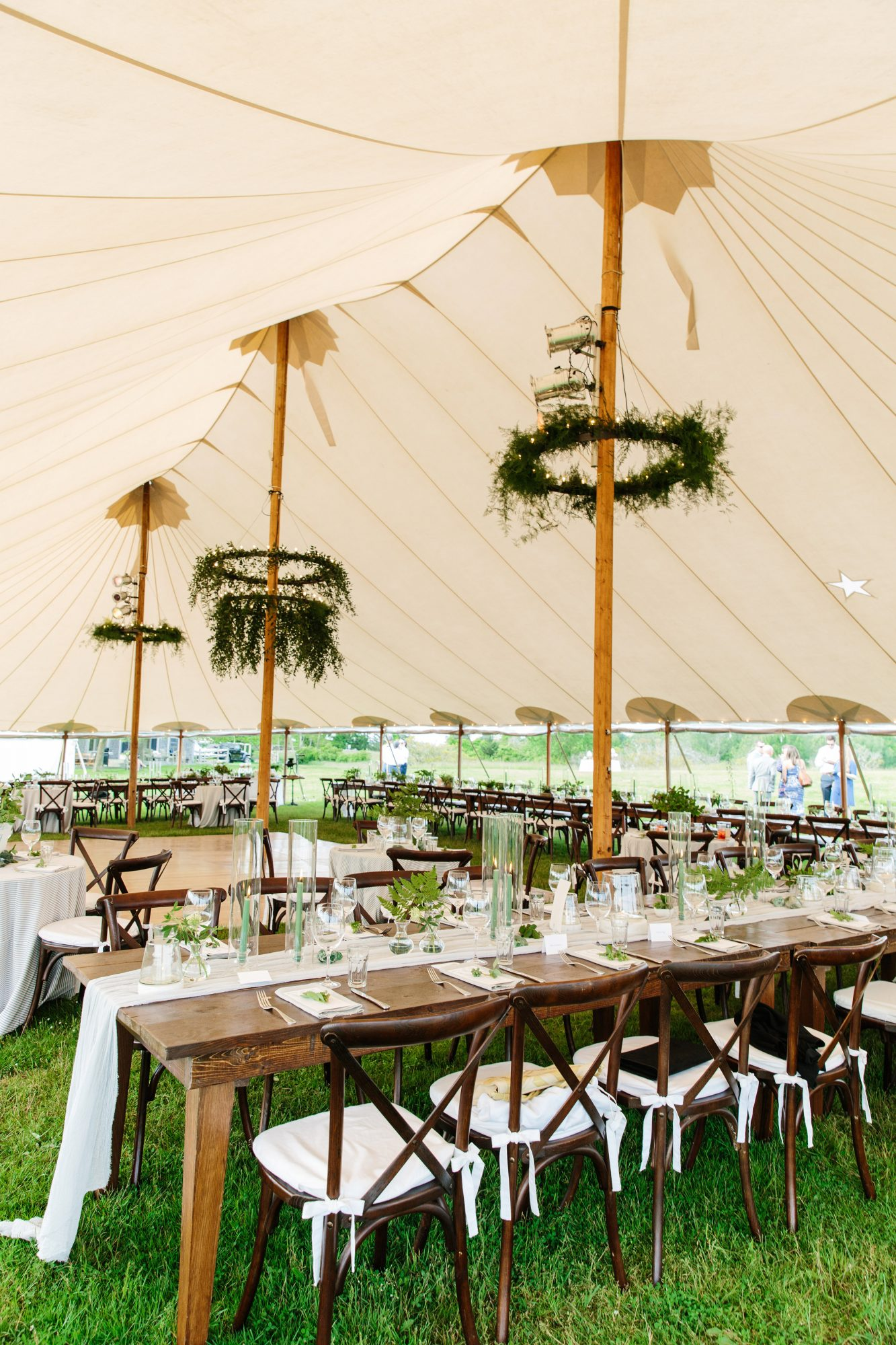 molly ed wedding reception tent