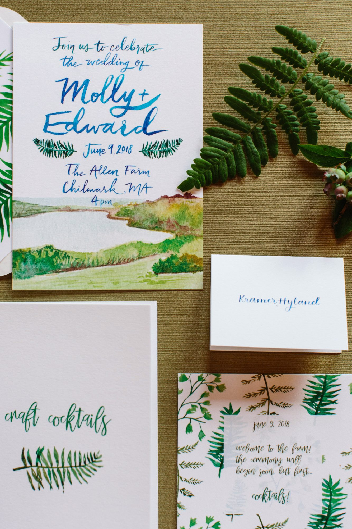 molly ed wedding stationery invitations