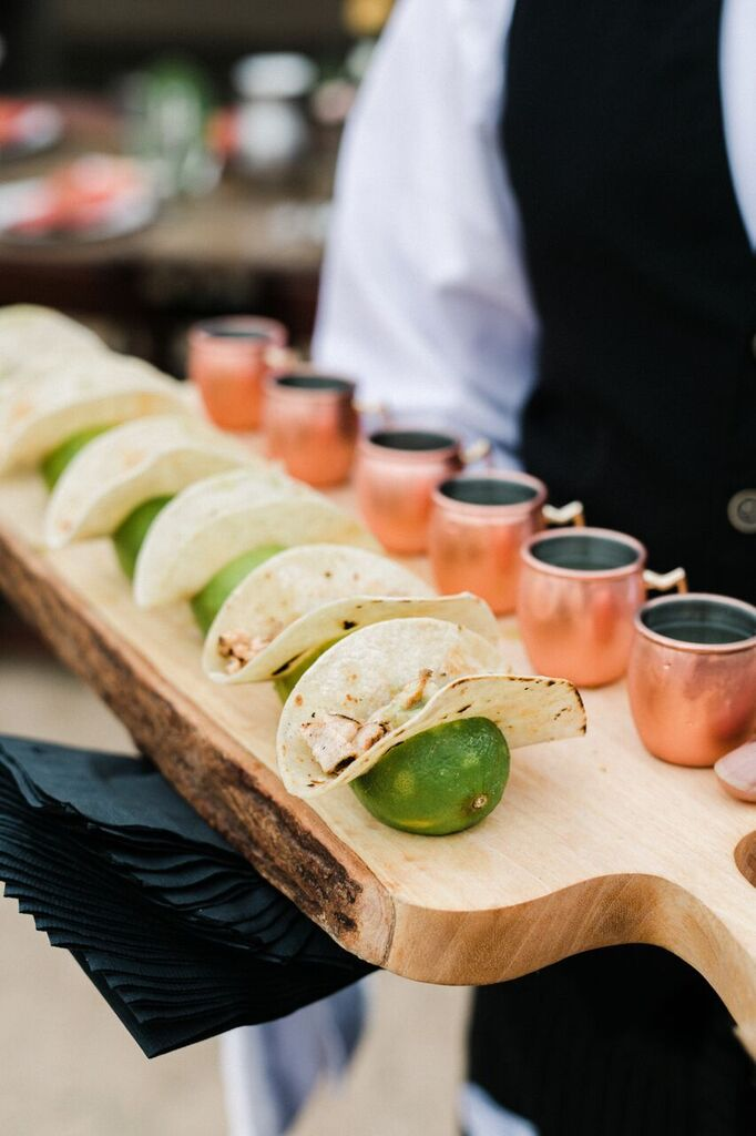 mini tacos and moscow mules