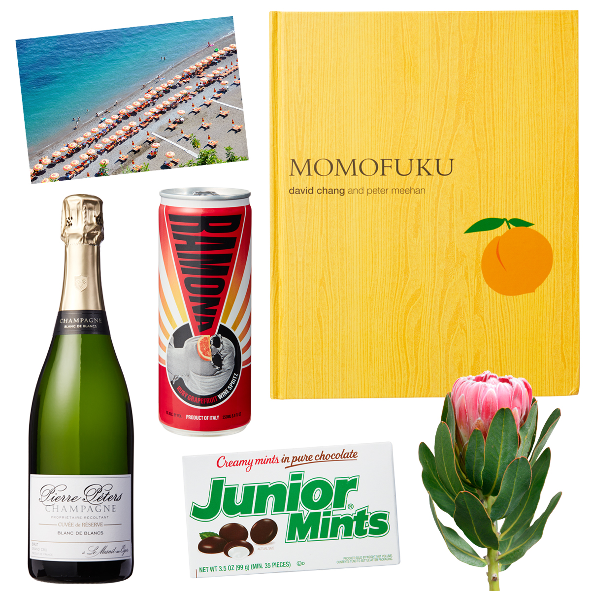 products book champagne beach candy wine flower