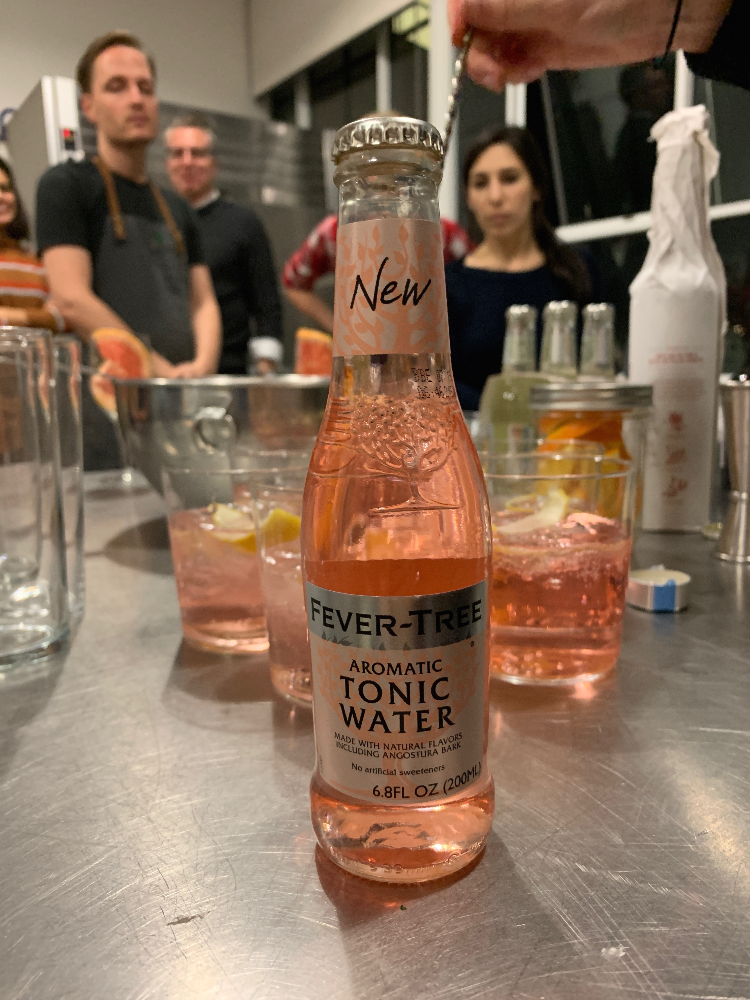 fever tree mixed drinks with citrus peels