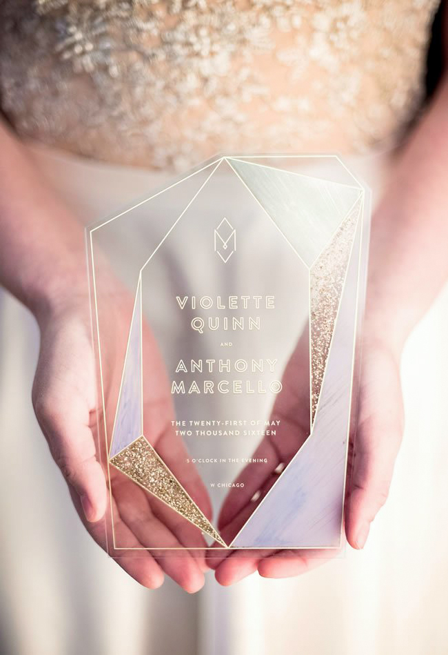 wedding stationery trends industrial look