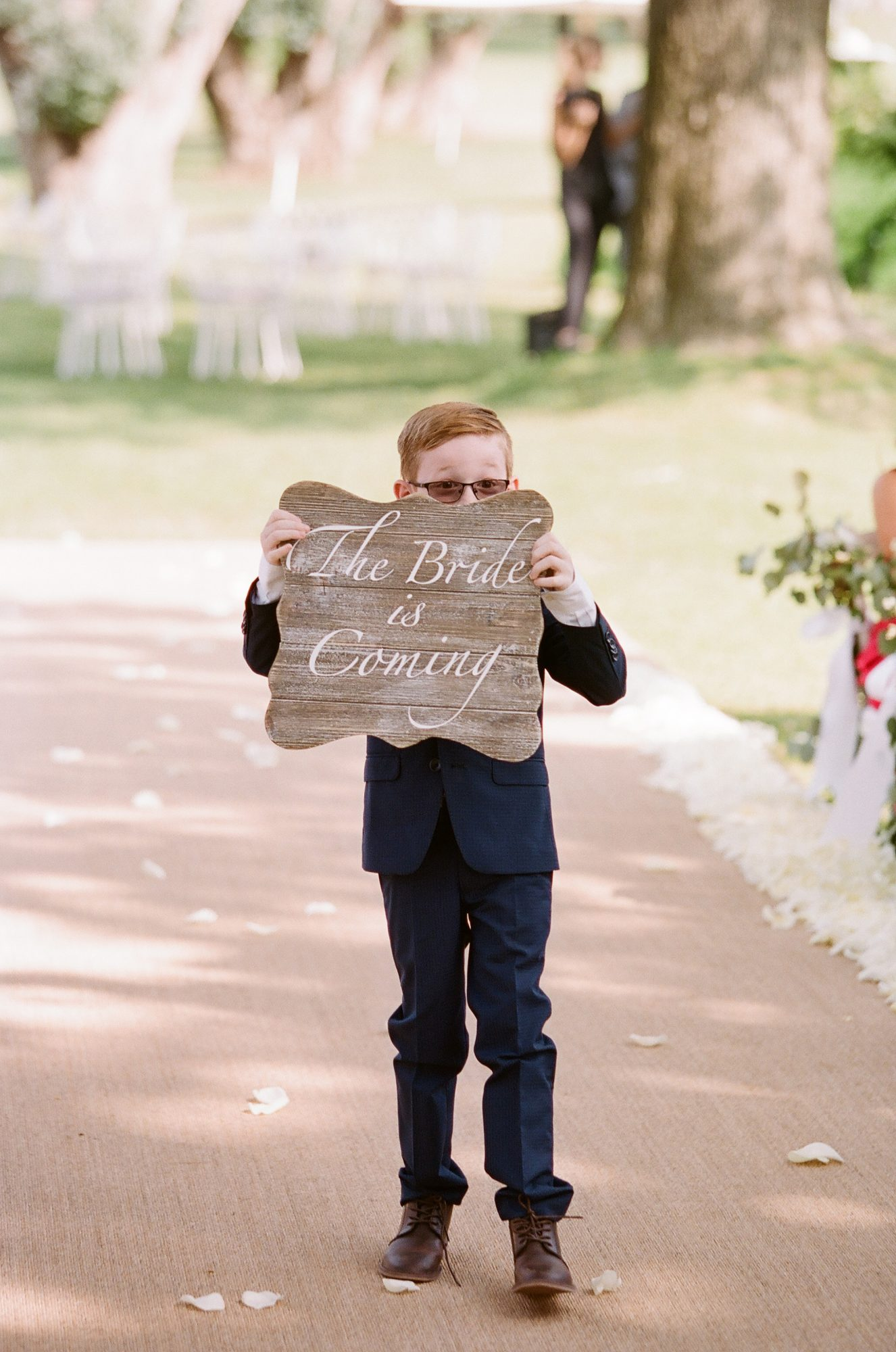 ashlie adam alpert wedding ring bearer sign