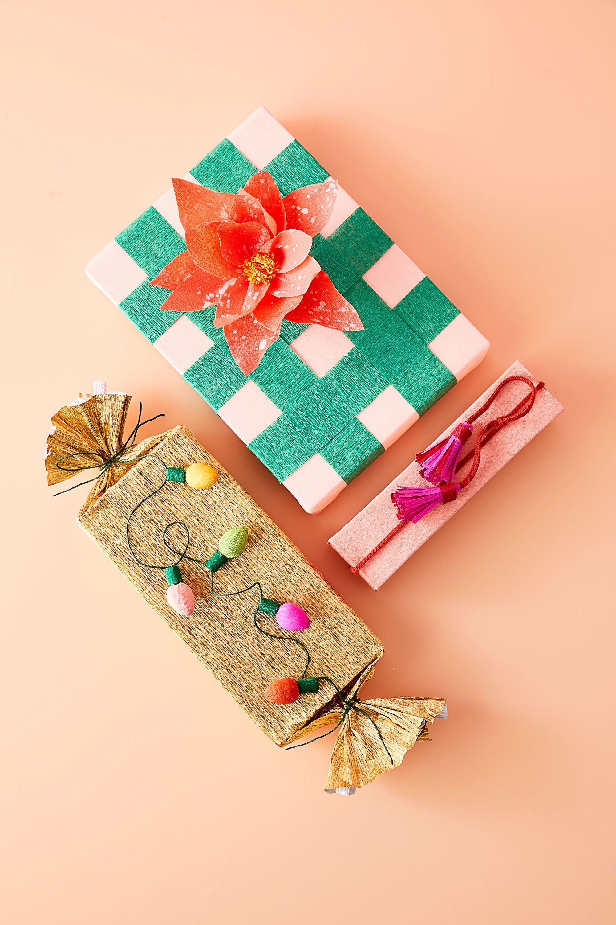 9 Clever Ways To Wrap A Gift With Crepe Paper Martha Stewart