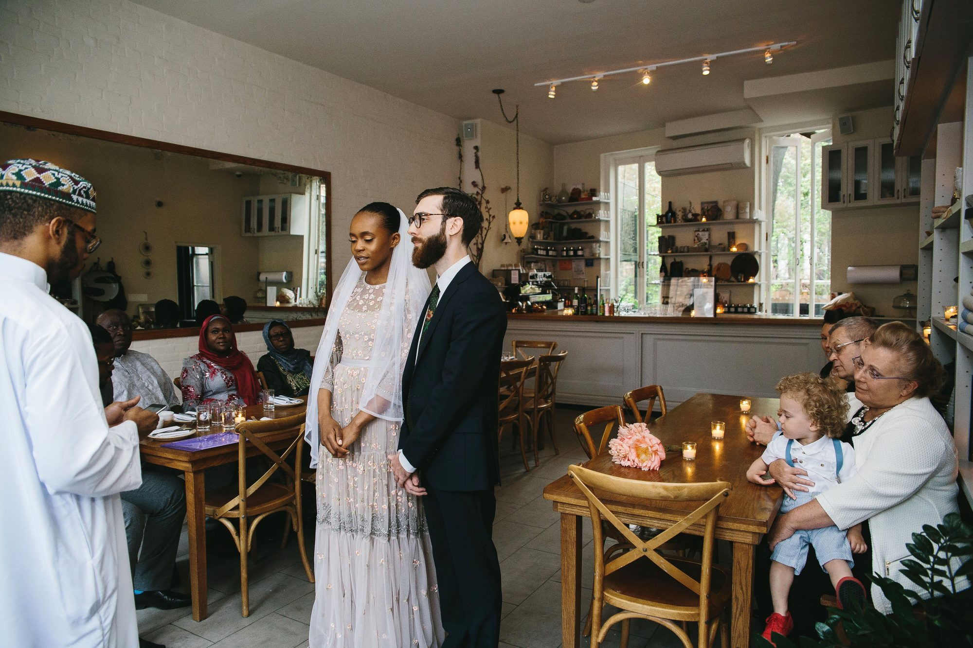 lola quinlan elopement ceremony bride groom