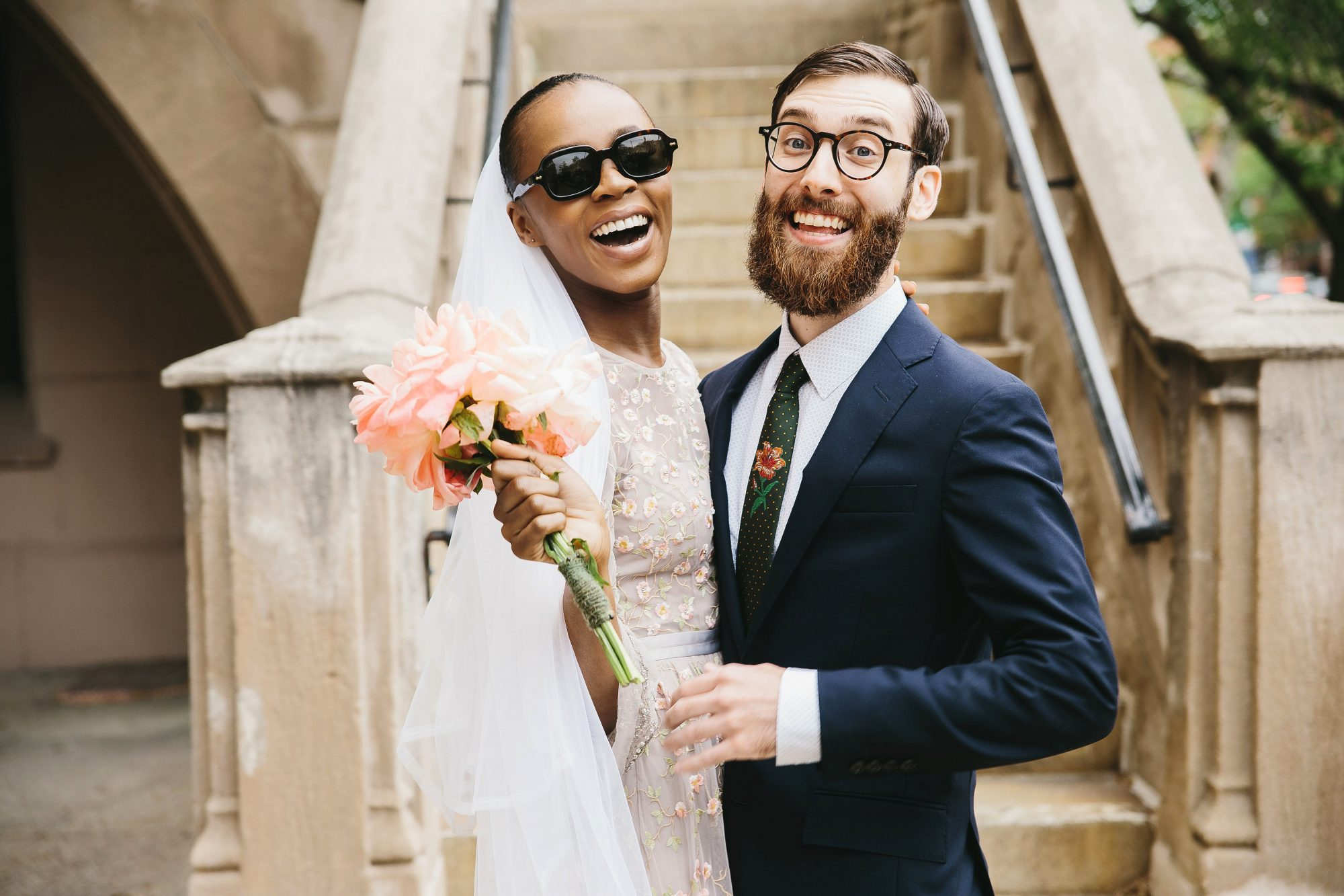 lola quinlan elopement couple smiles sunglasses
