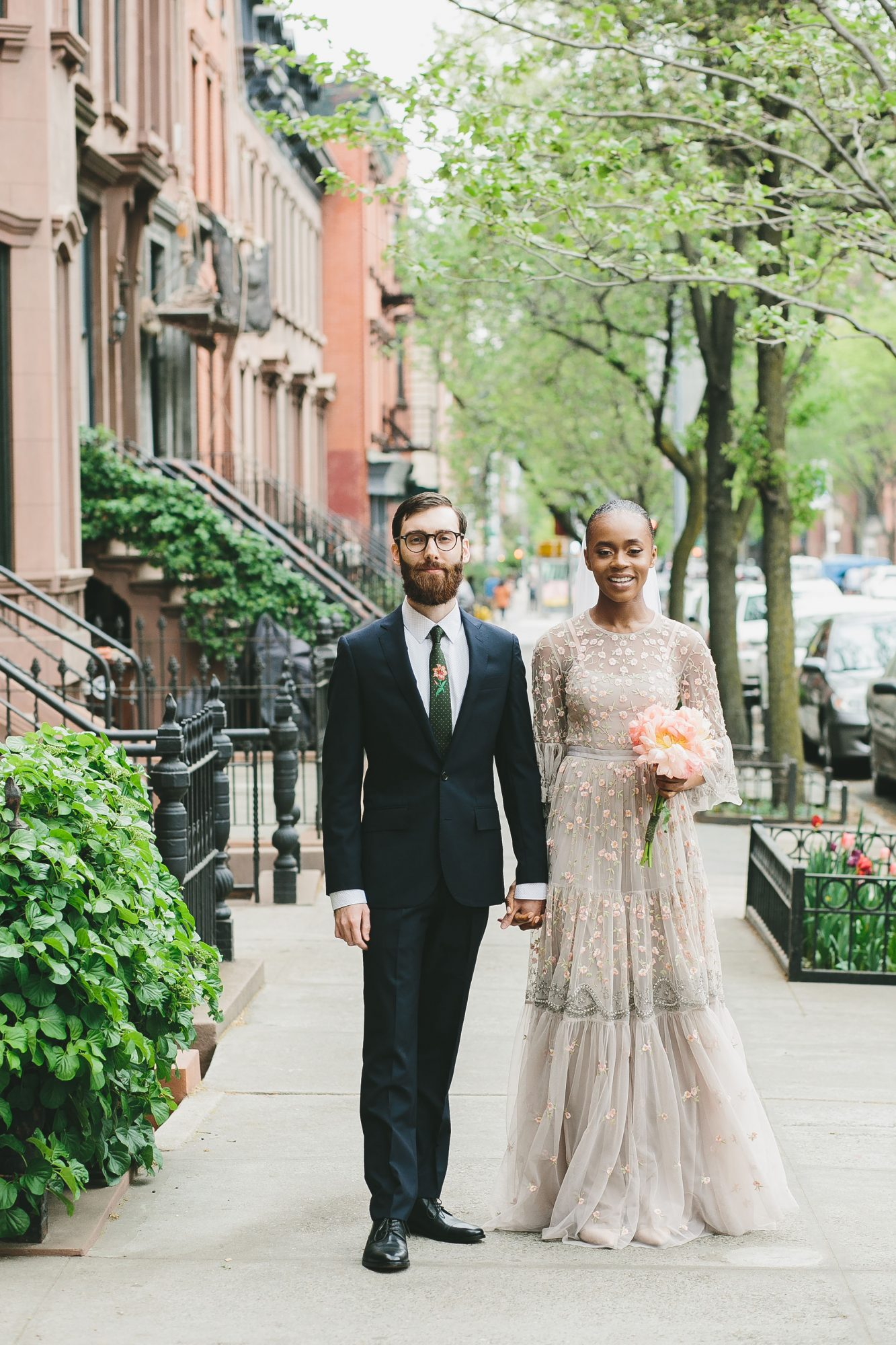 New York City Elopement, Bride and Groom Portrait
