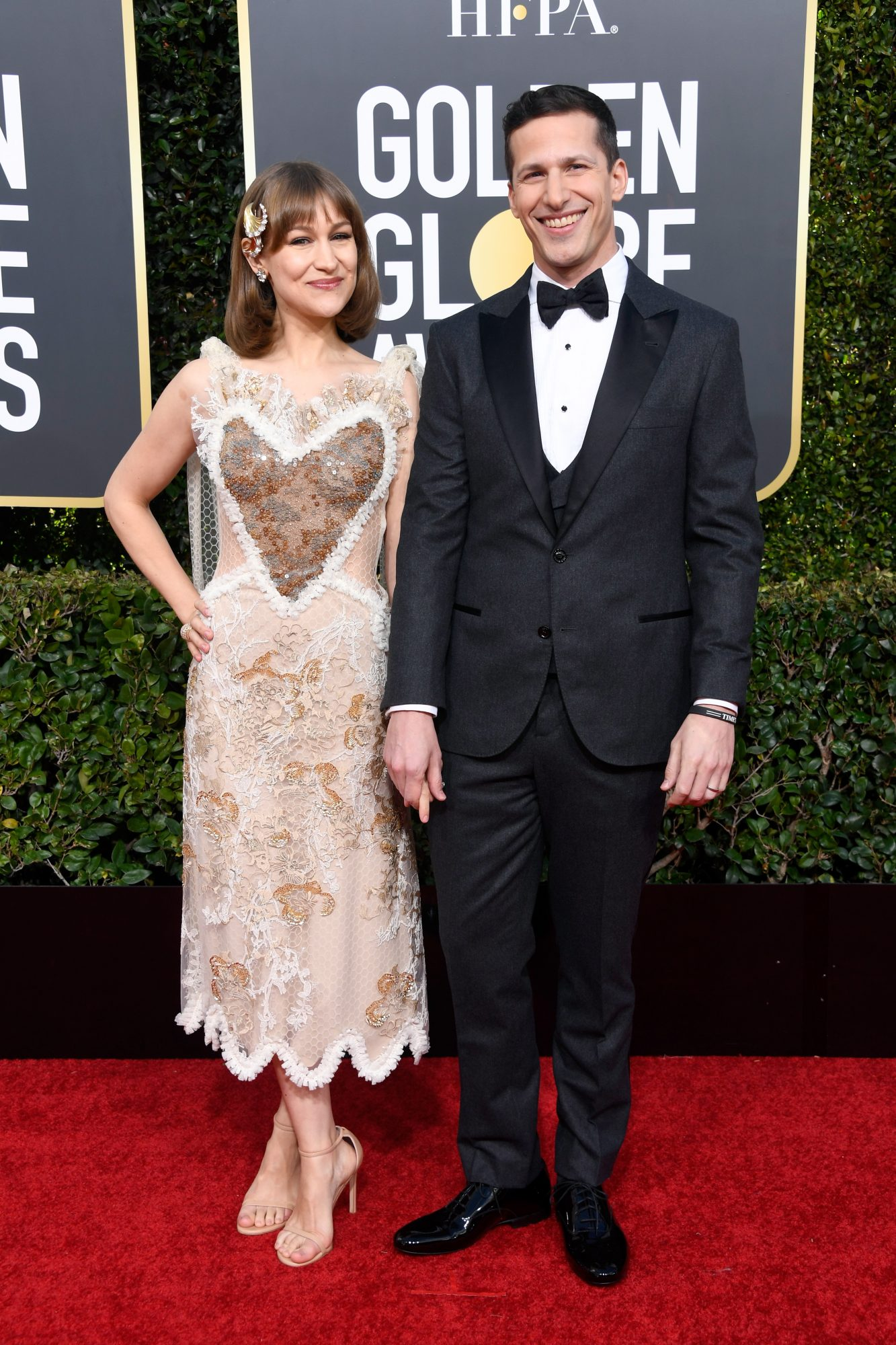 andy samberg and jonna newsom 2019 golden globes