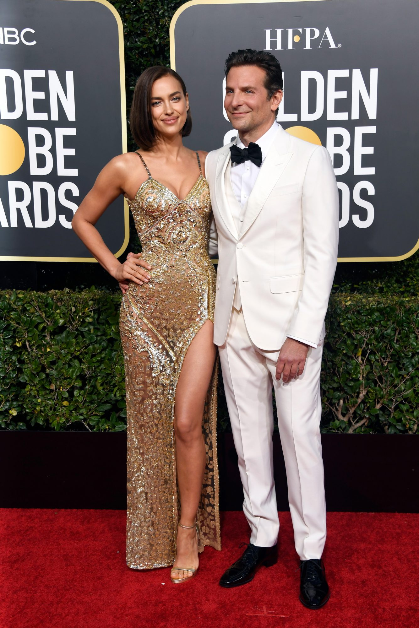 bradley cooper and irina shayk 2019 golden globes