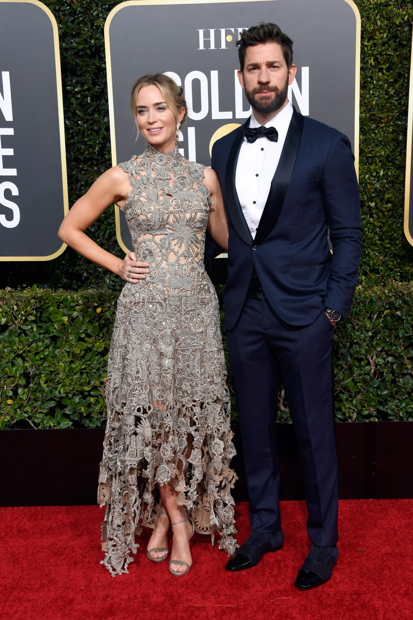 emily blunt and john krasinski 2019 golden globes