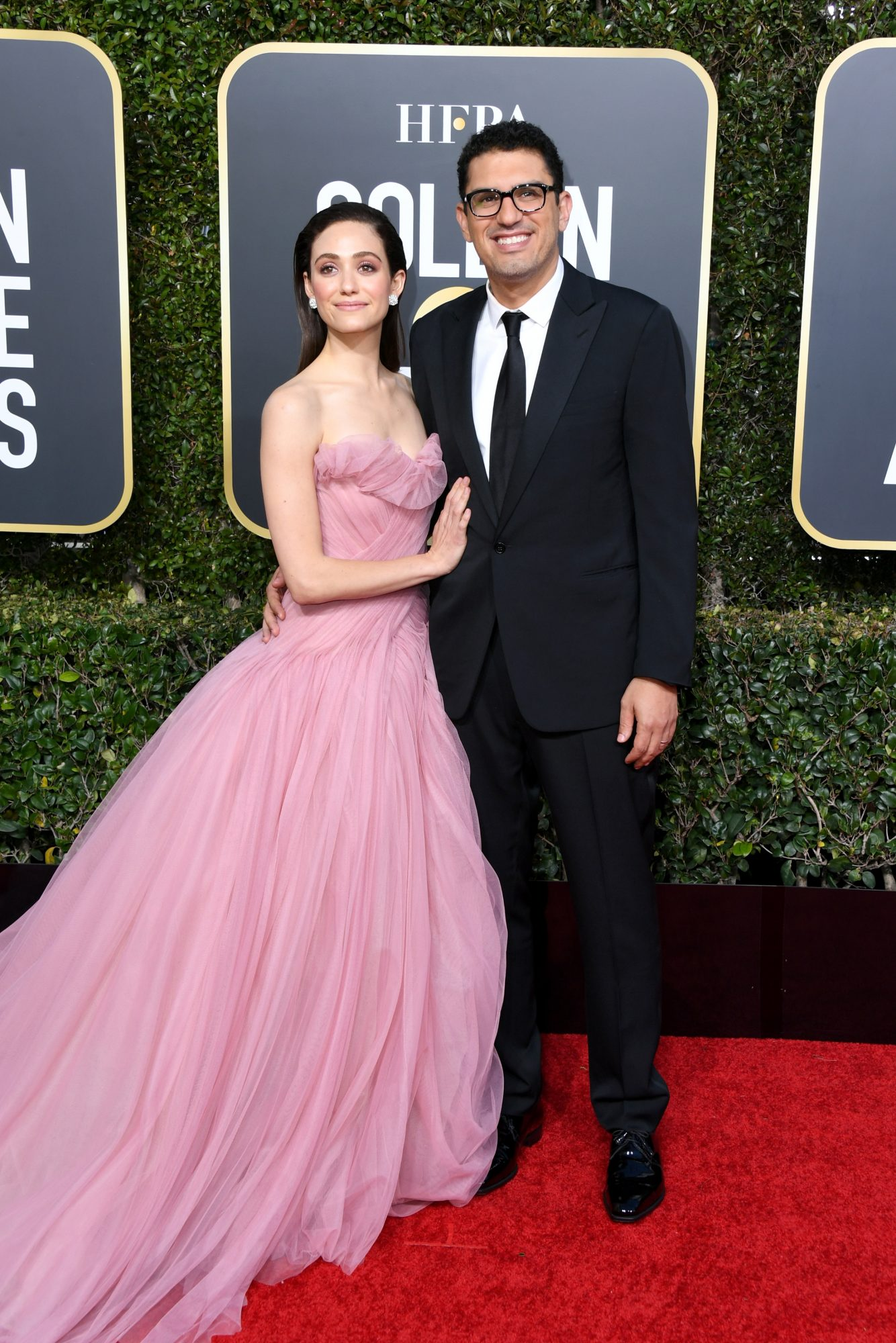 emily rossum and sam esmail 2019 golden globes