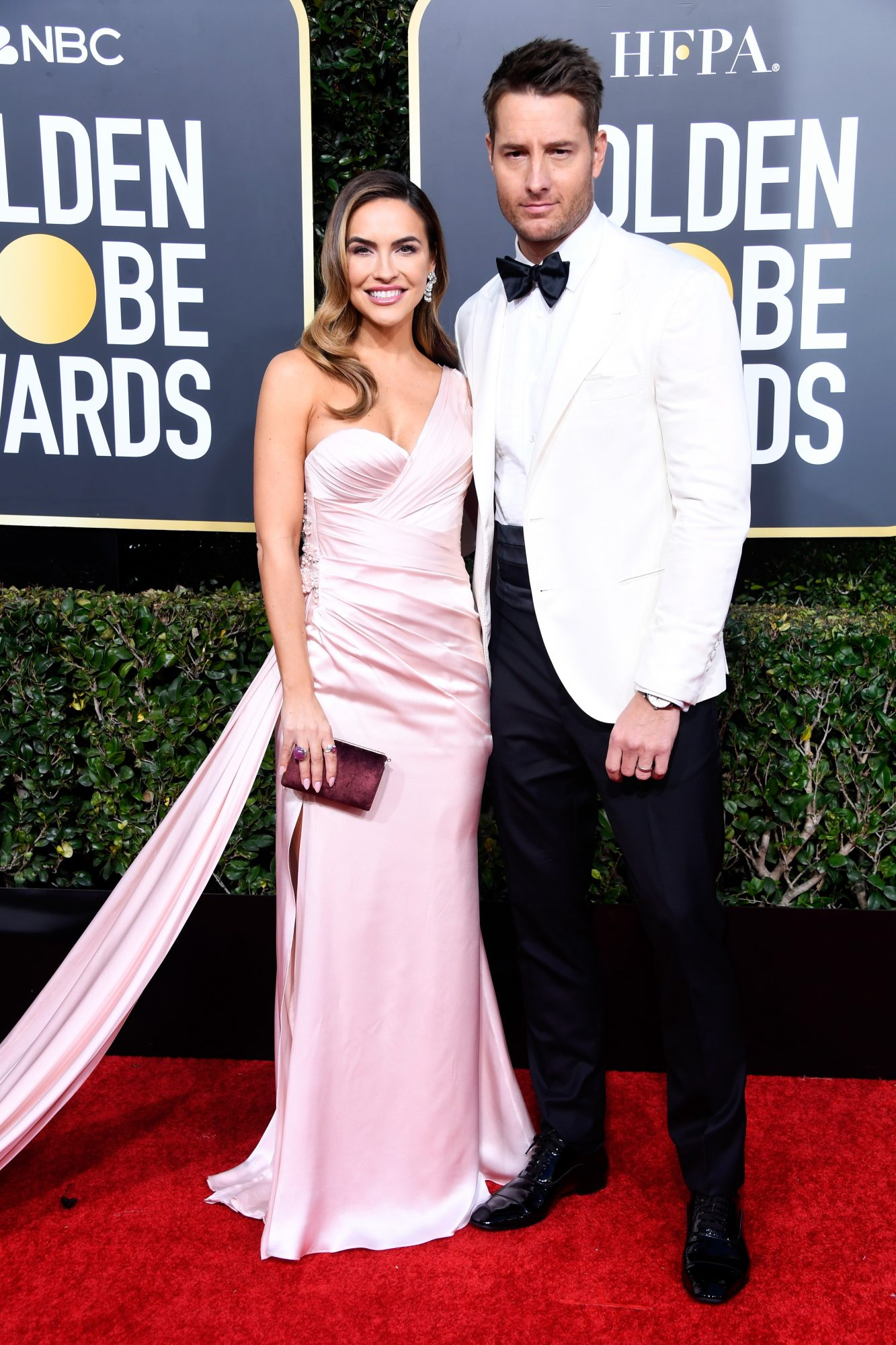justin hartley chrishell stause hartley 2019 golden globes