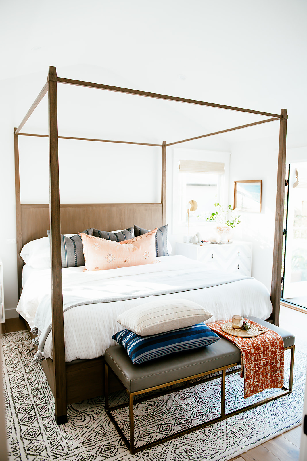 4-post bed in california house
