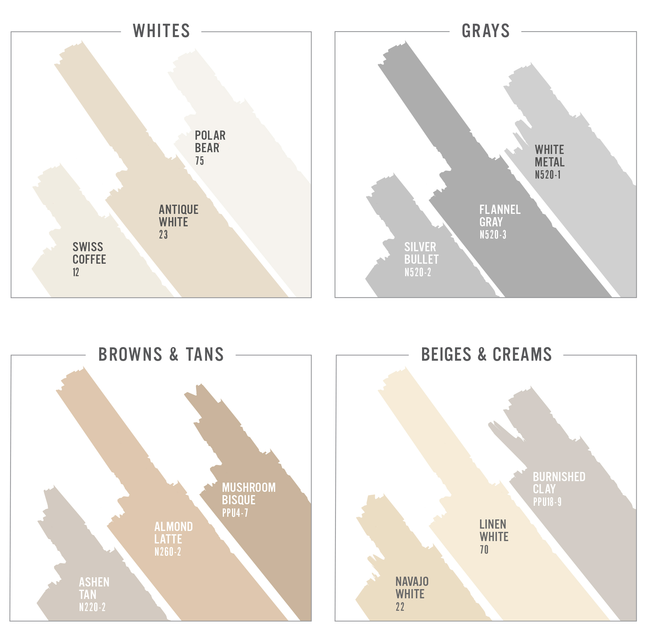 behr most popular neutrals paint white gray beige brown tan