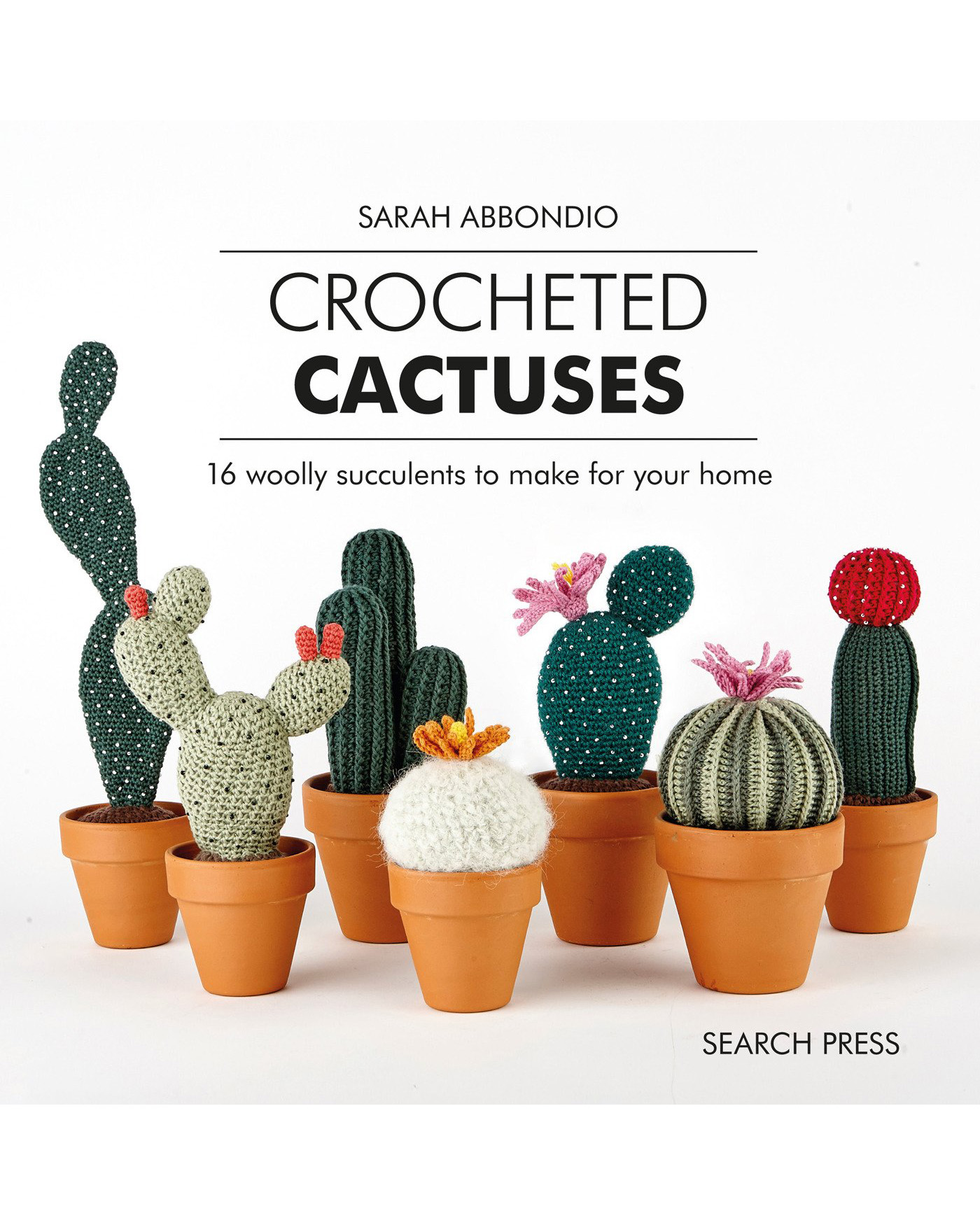 crocheted cactuses book cover