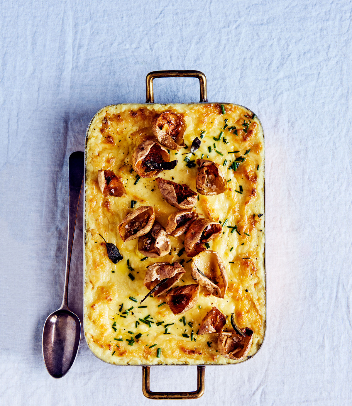 twice-baked potato and raclette casserole
