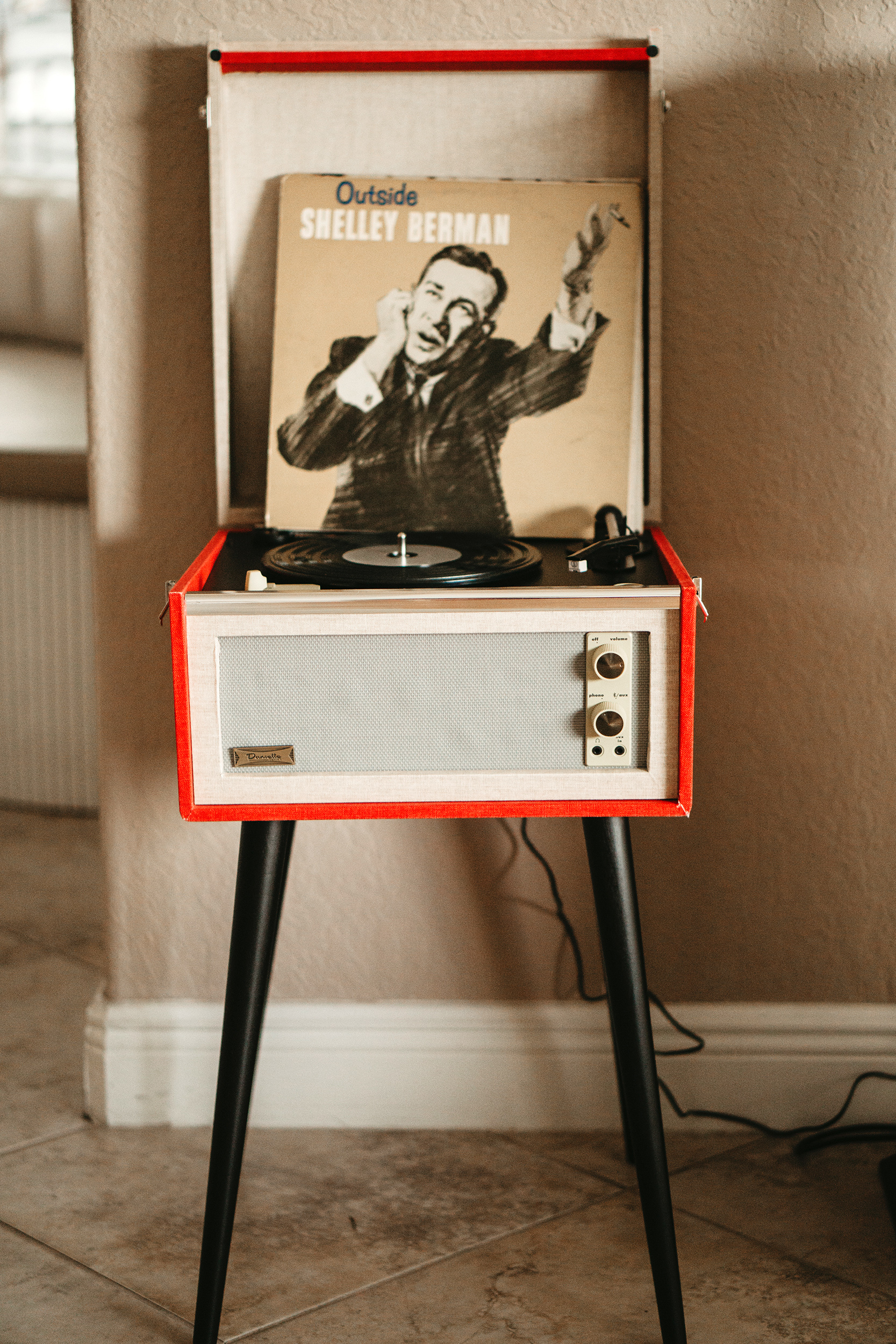 grandfather's 90th birthday record player