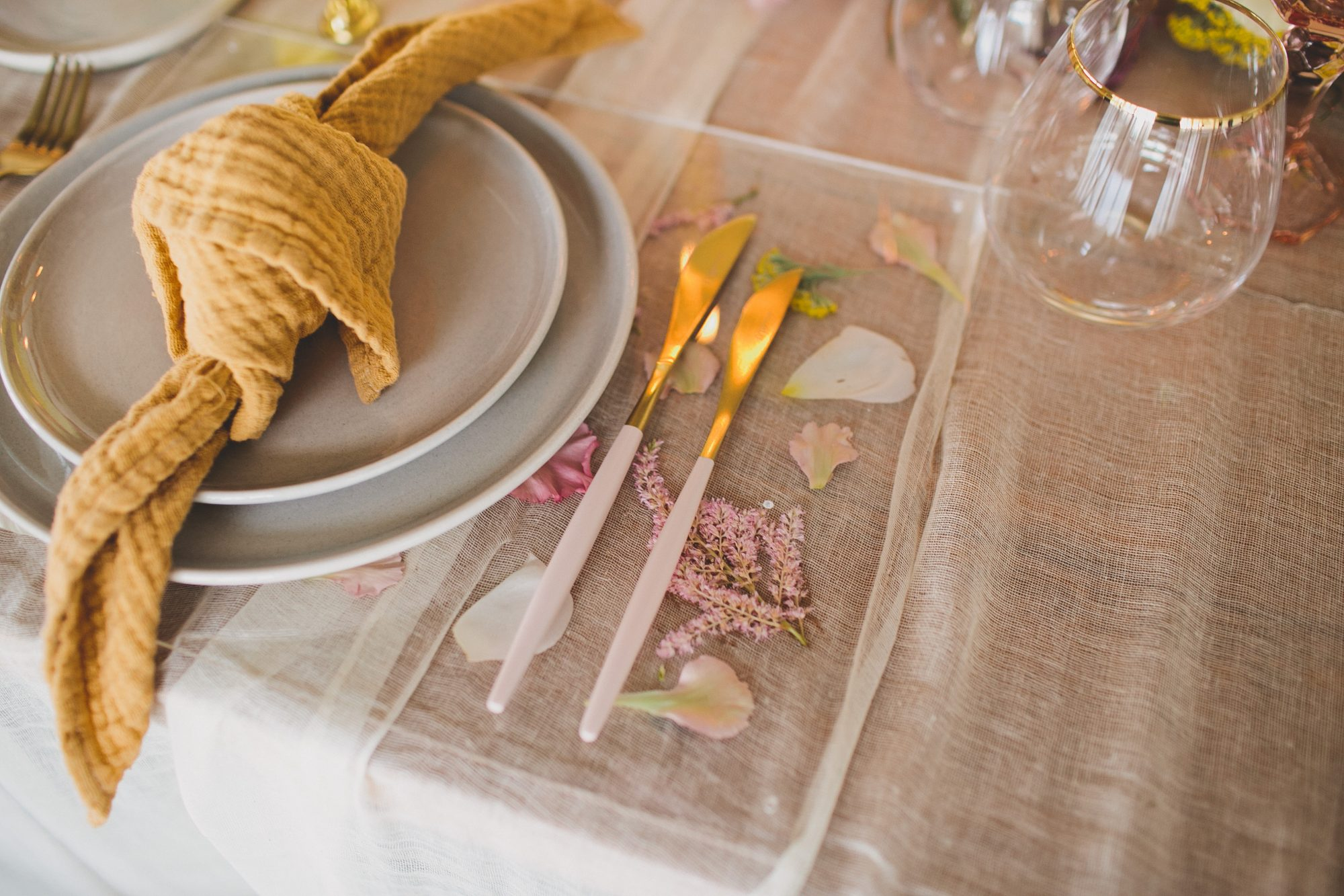 Pressed Floral Wedding Place Mats