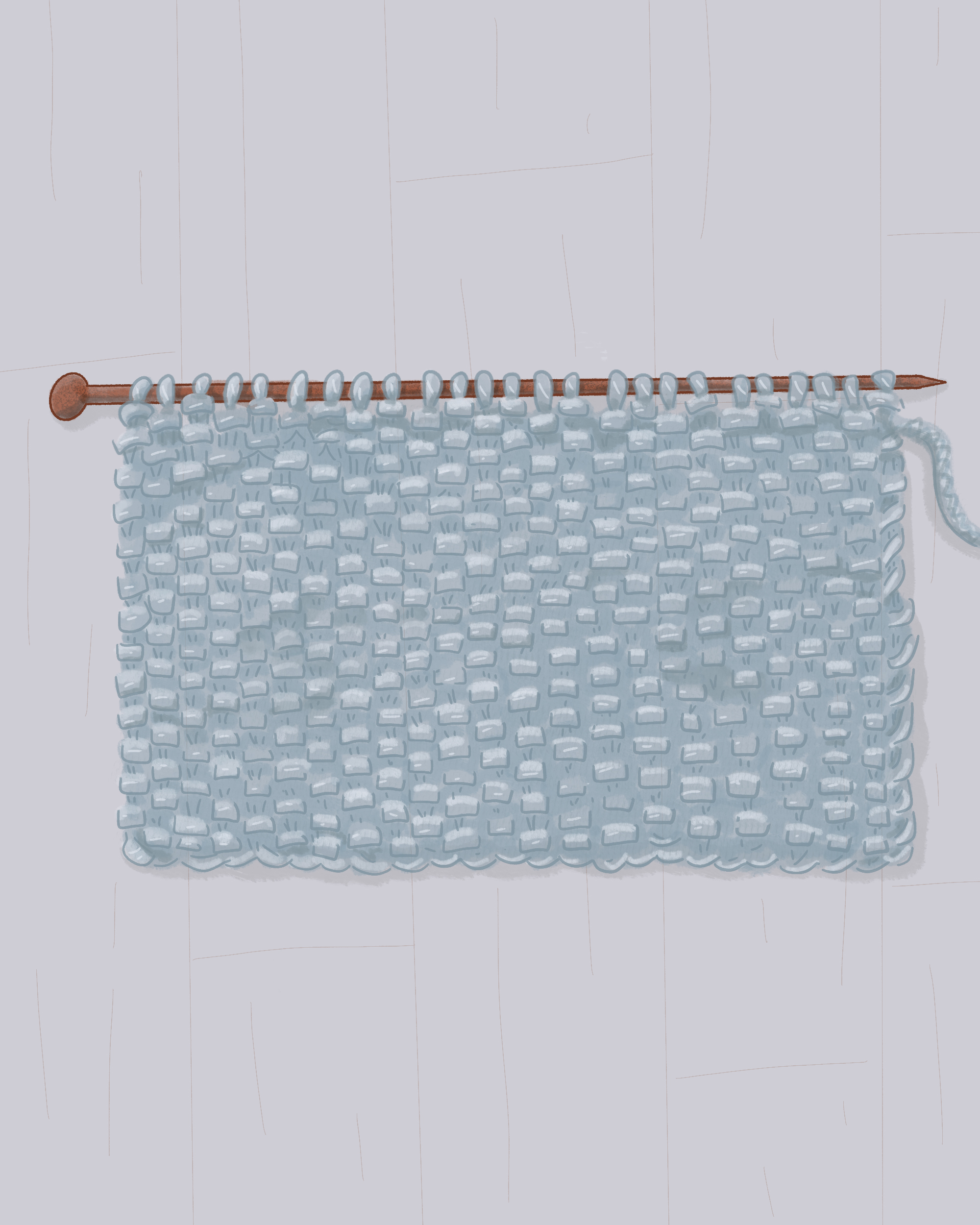 seed stitch in knitting