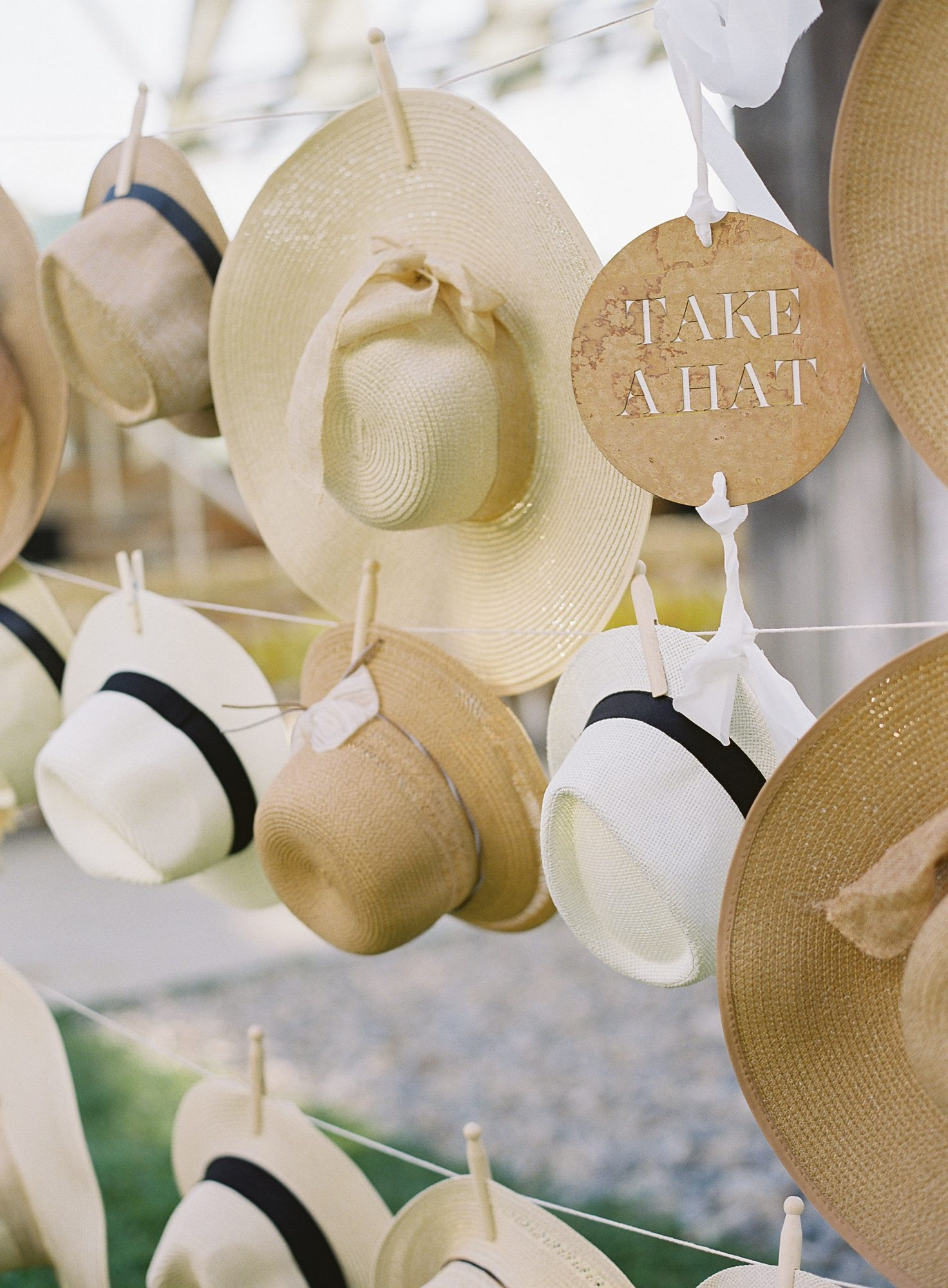 janet patrick rehearsal dinner hanging hats