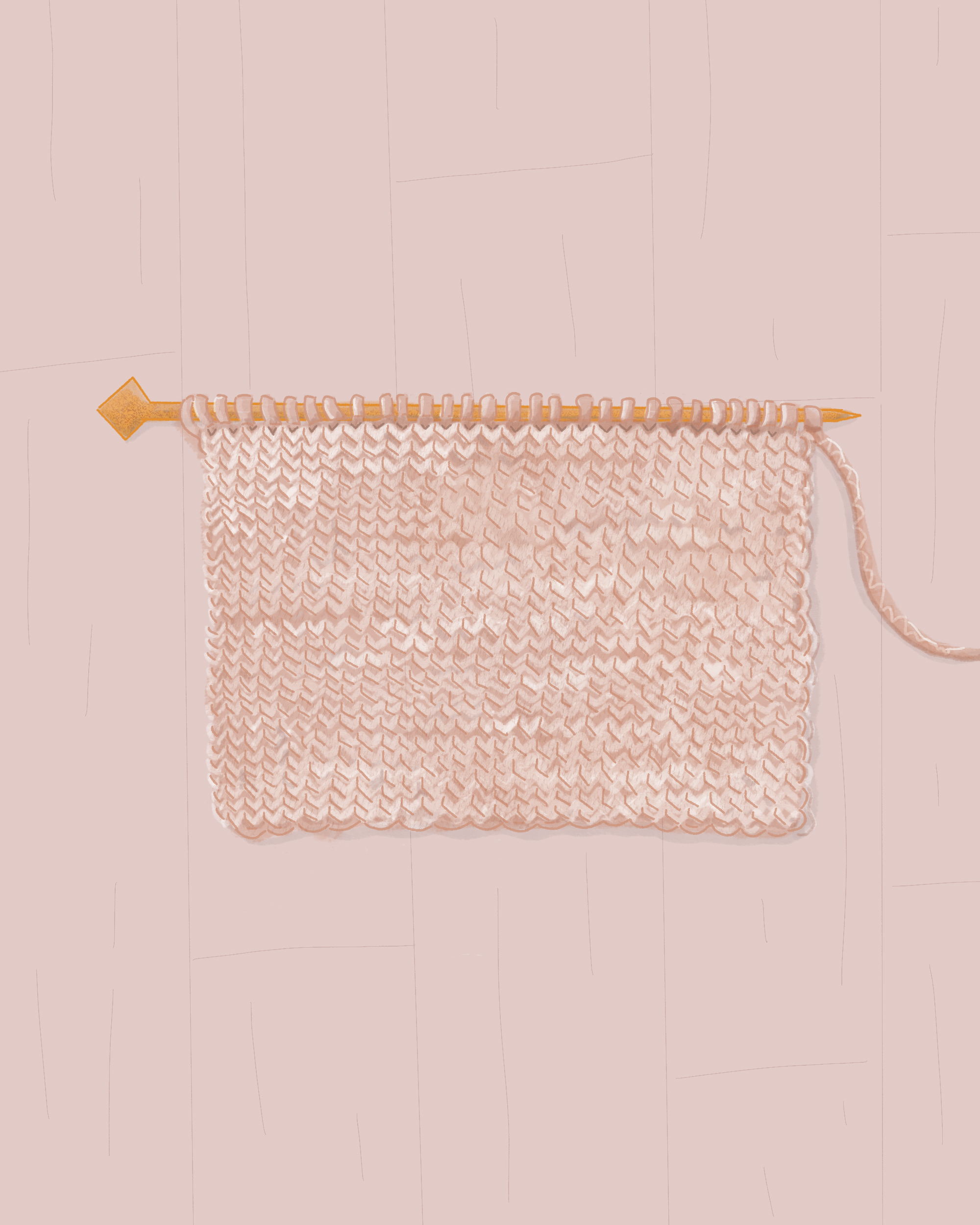 stockinette stitch in knitting