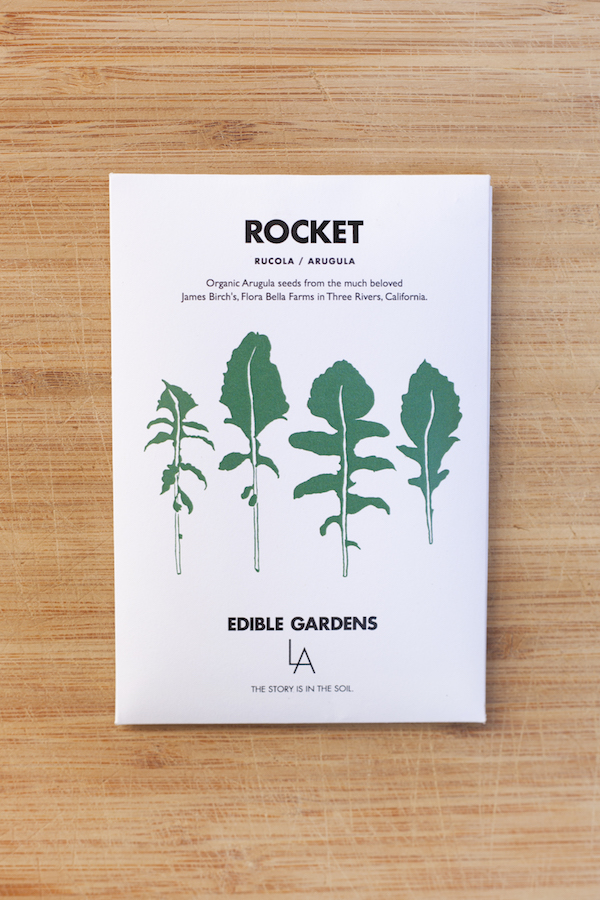 edible gardens rocket seed packet