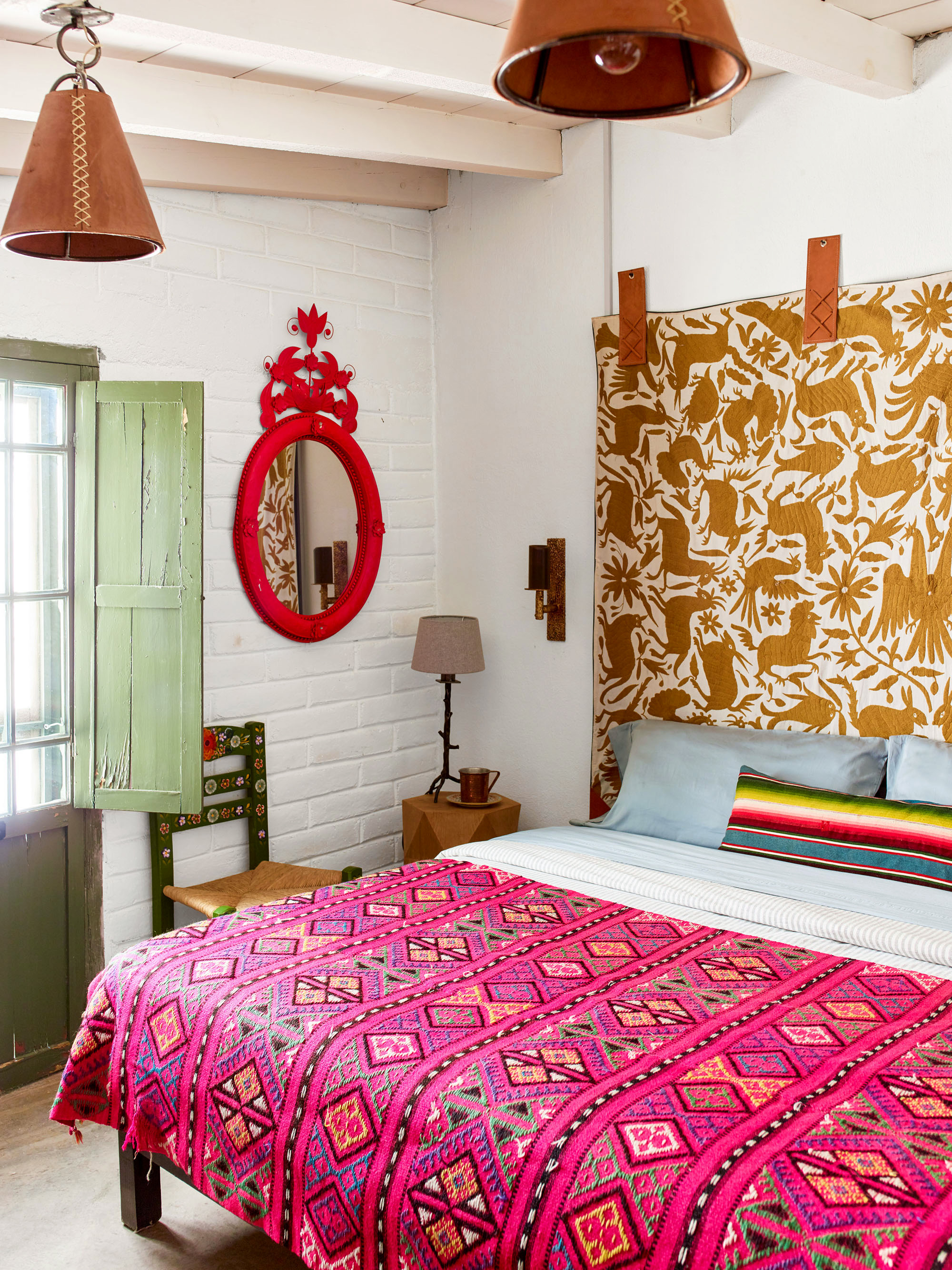 colorful ranch bedroom