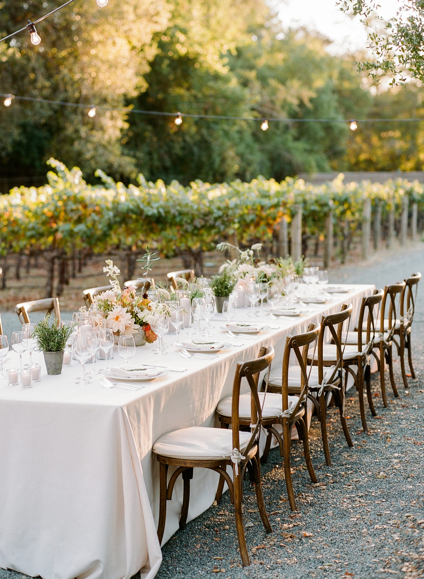cristina chris wedding table chairs and tablescape