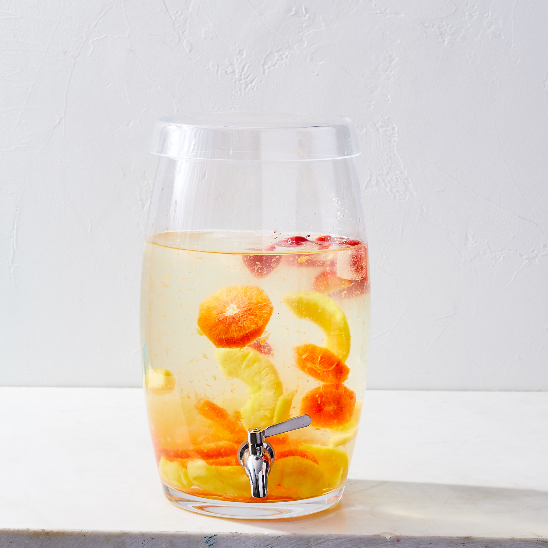 water cooler with sliced fruit