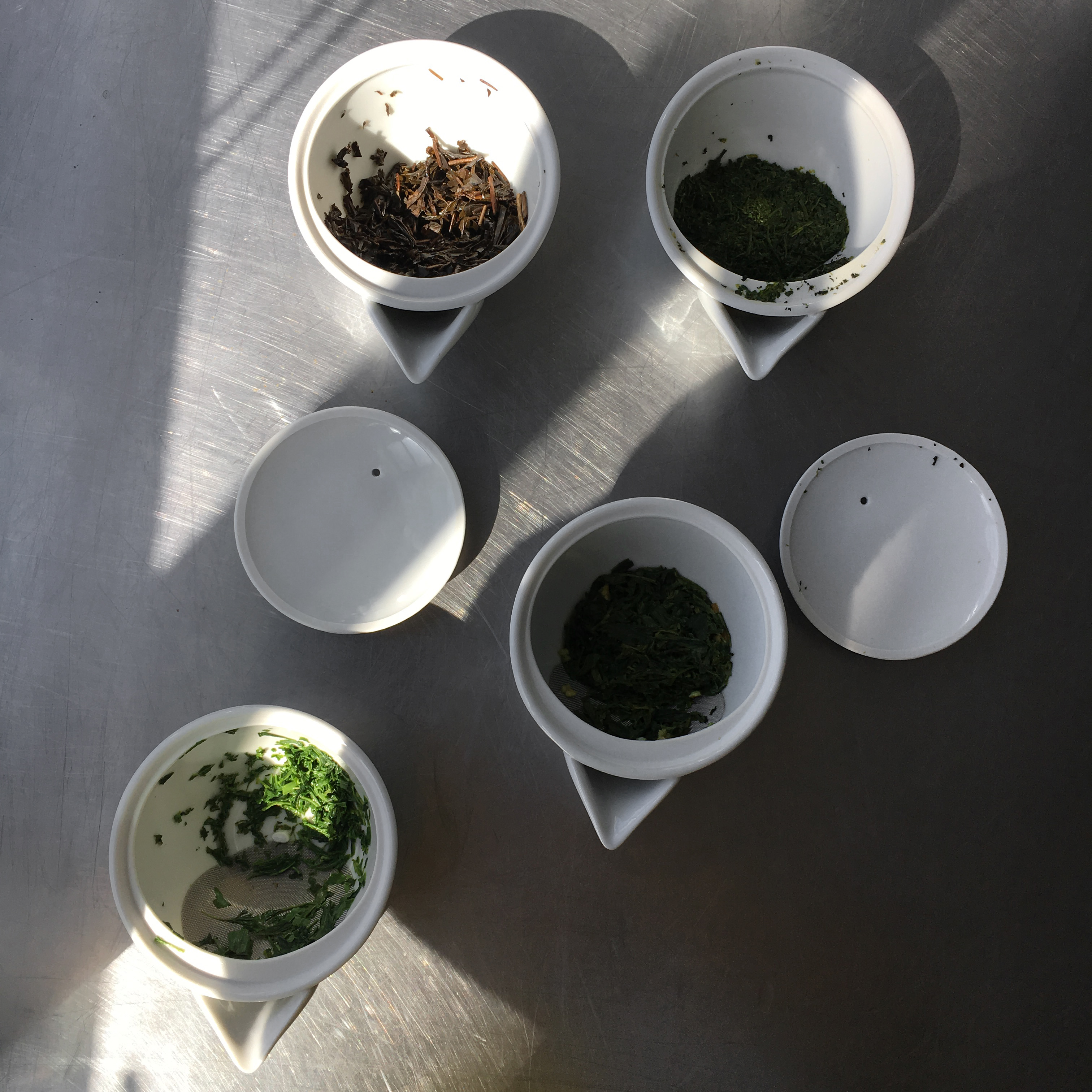 japanese green tea leaves after test kitchen tasting