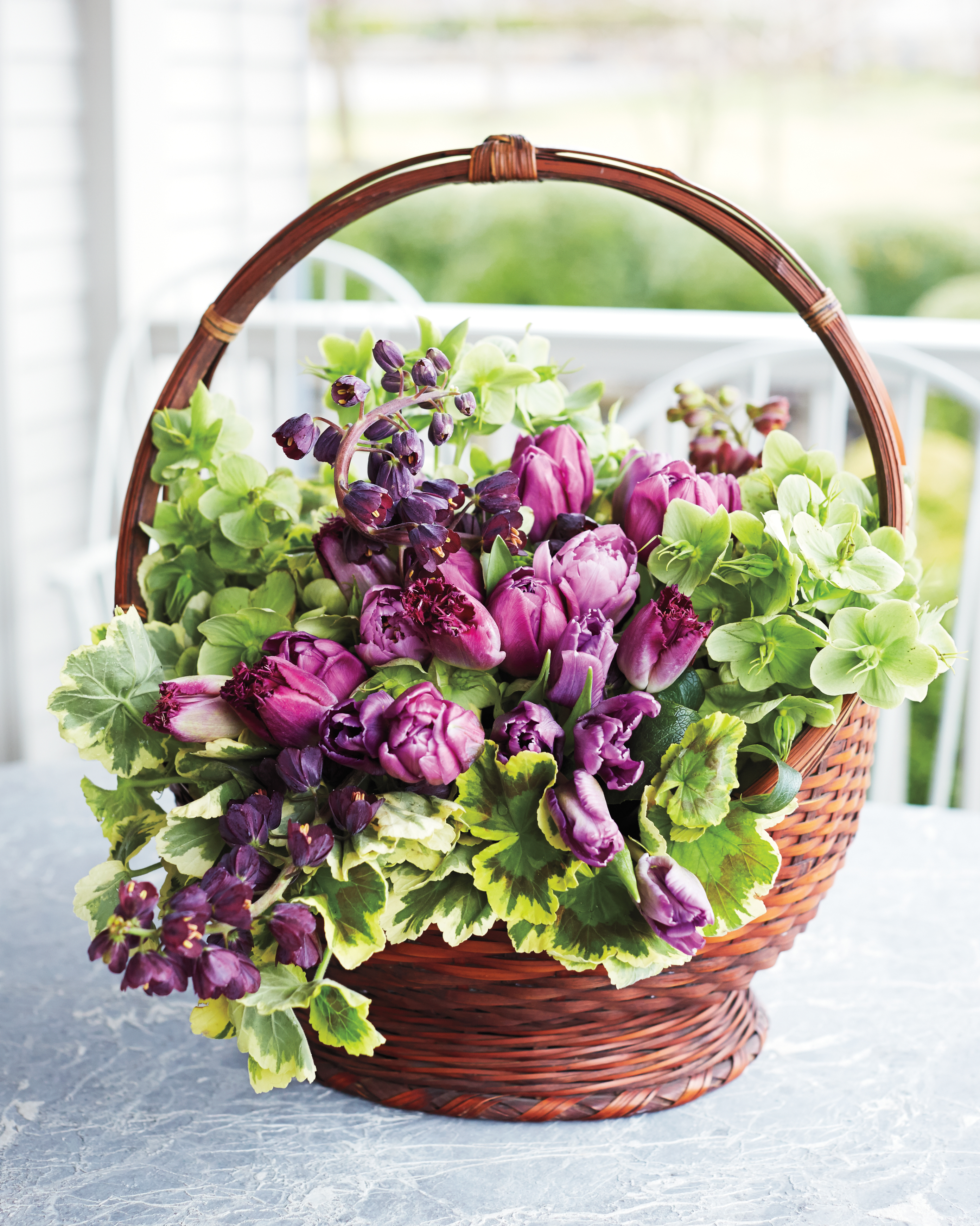 Basket Brimming with Beautiful Blooms