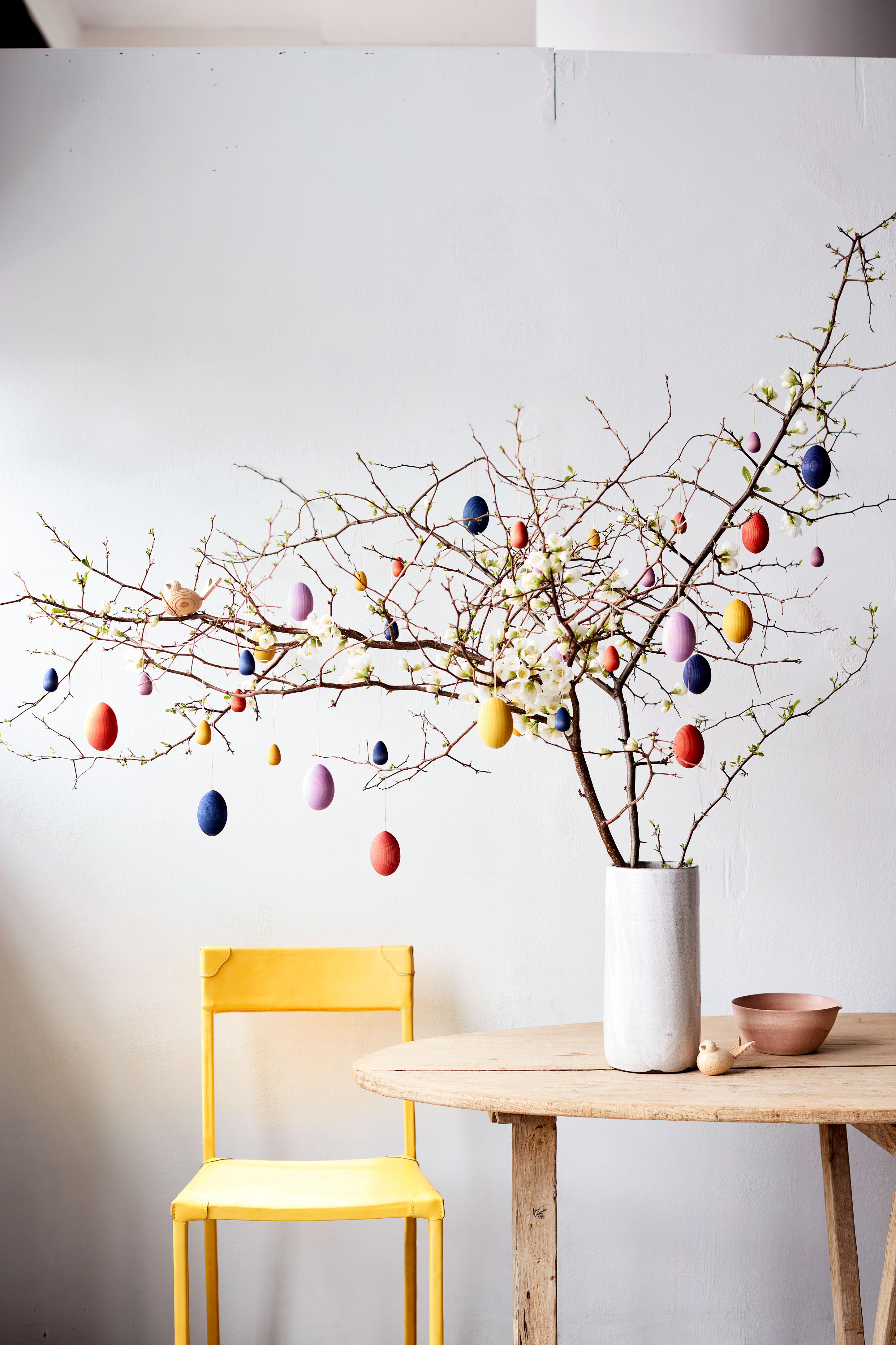 painted egg tree decoration