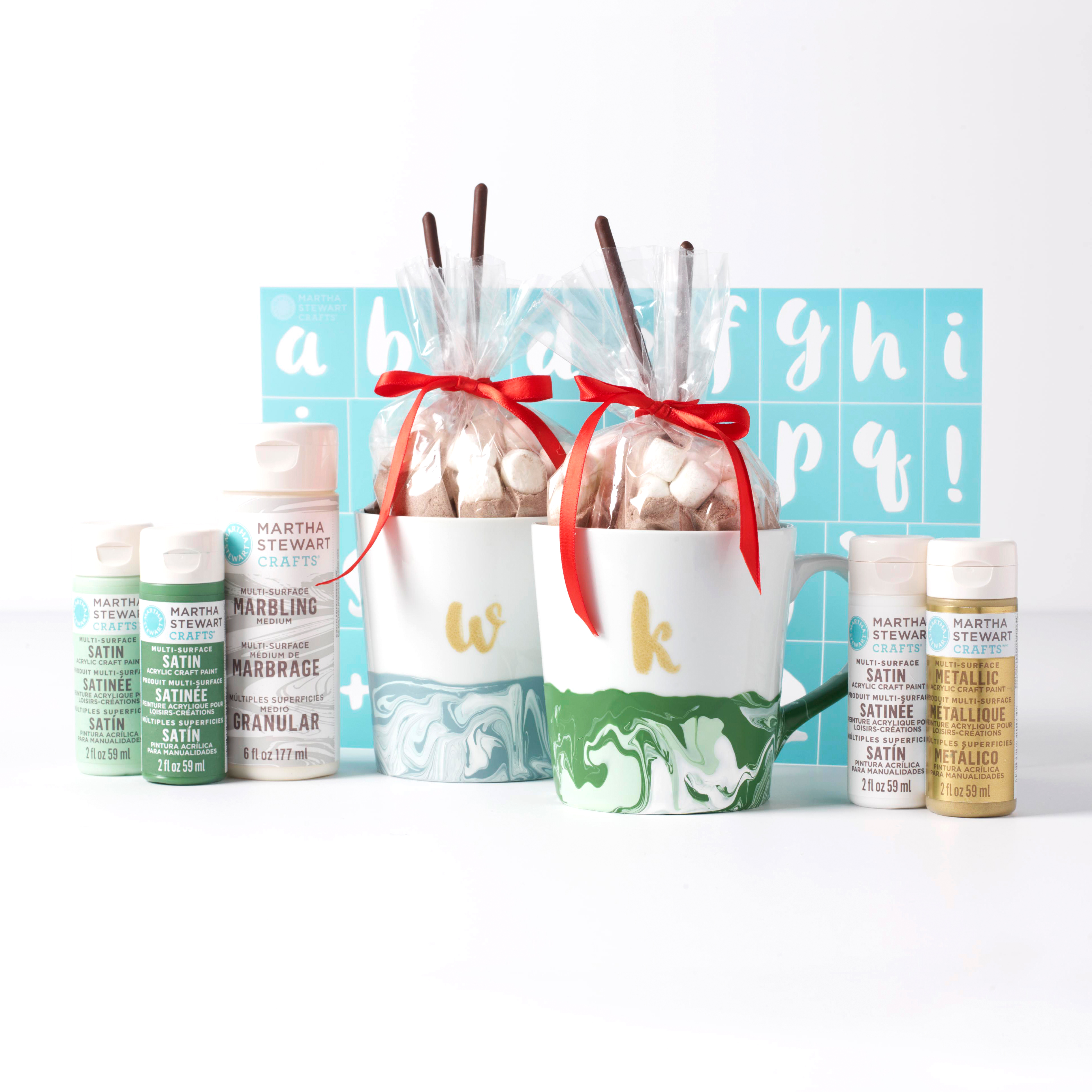 holiday project marbled mugs with treats