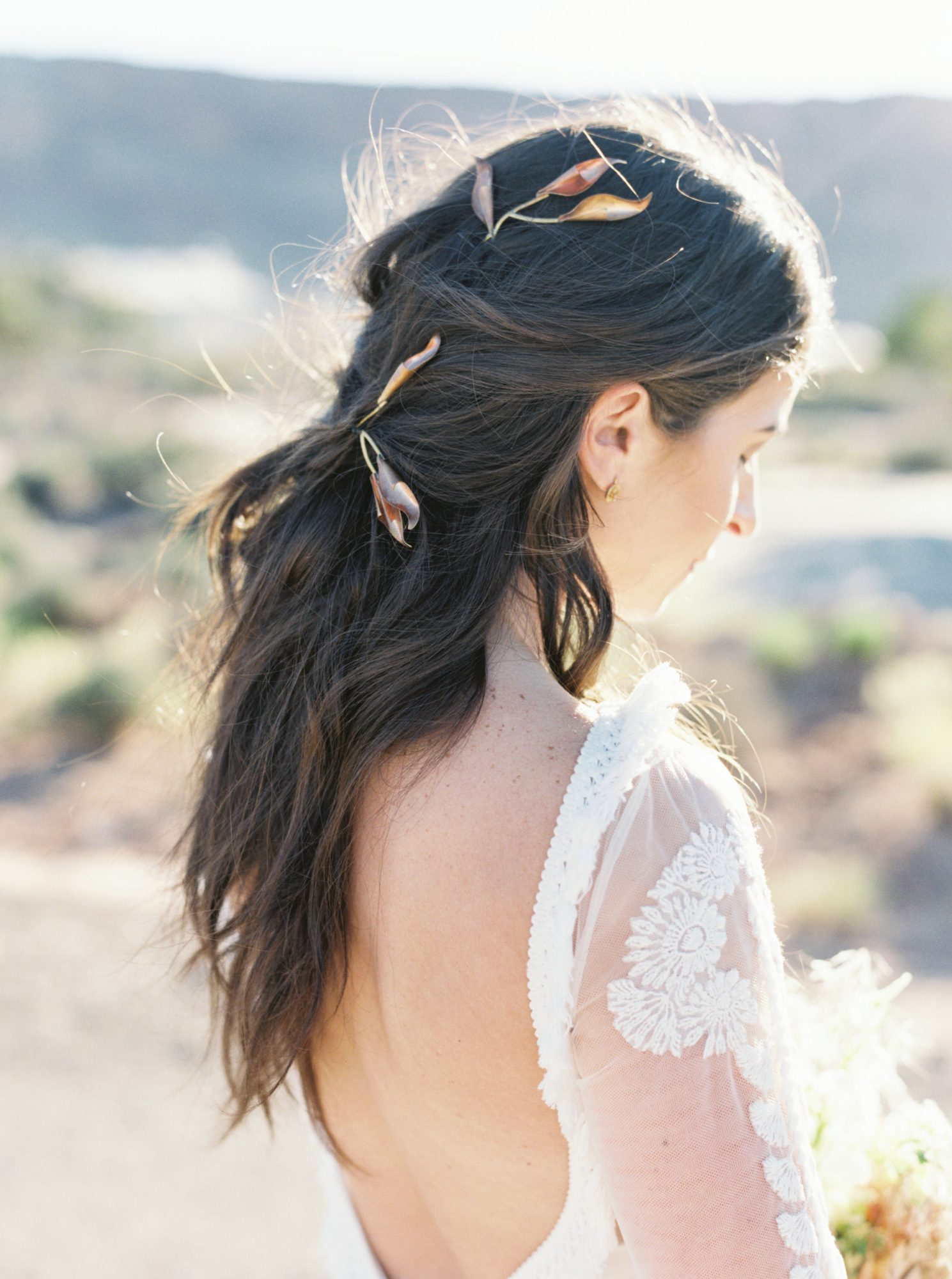 jeanette david wedding bride hair style