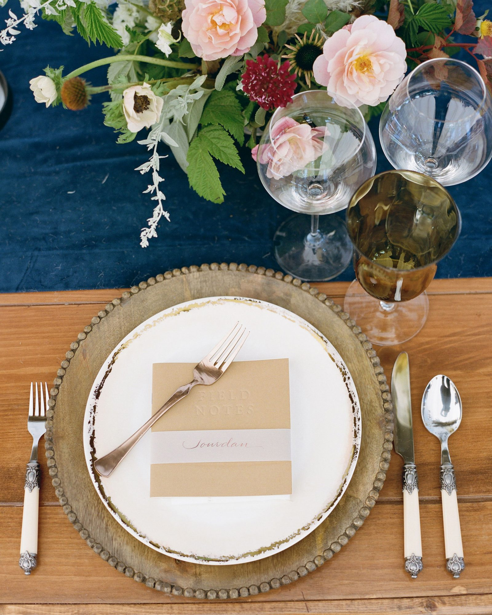 rehearsal dinner table setting