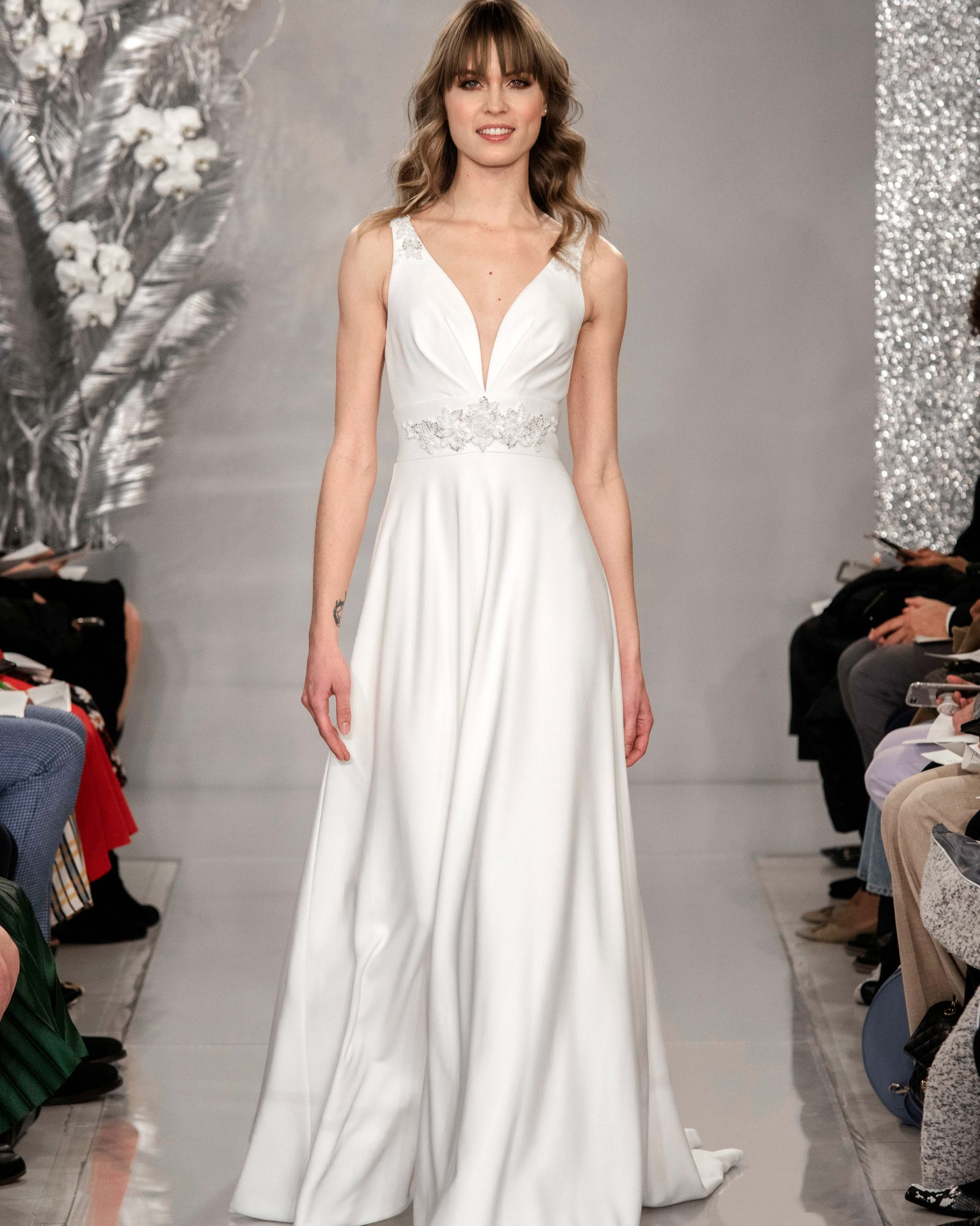 THEIA v-neck ball gown wedding dress Spring 2020