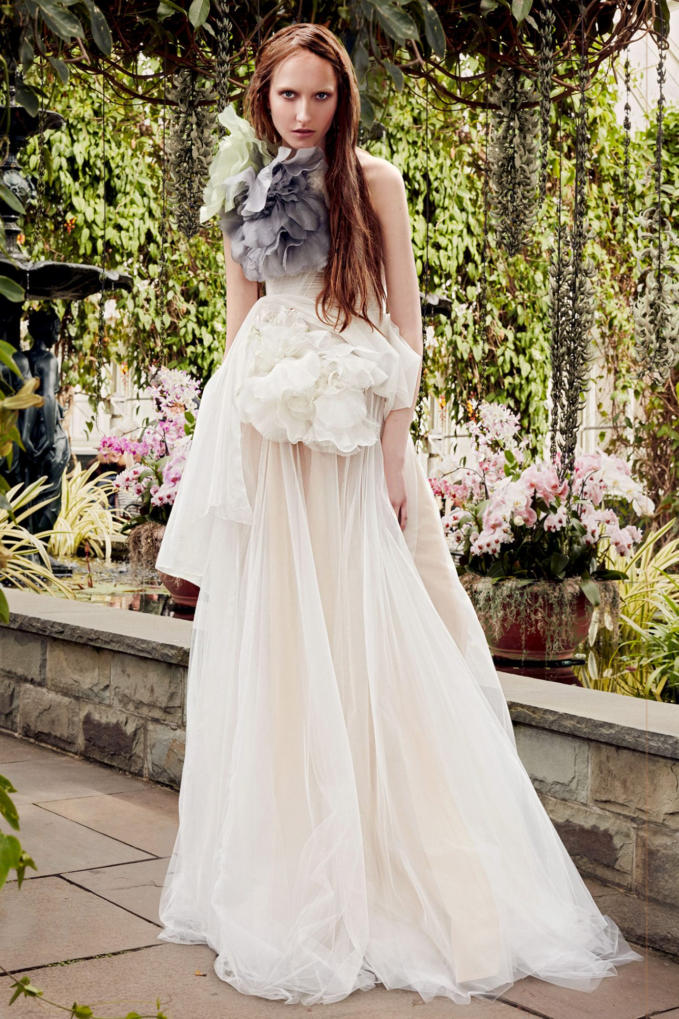 vera wang large floral appliques wedding dress spring 2020