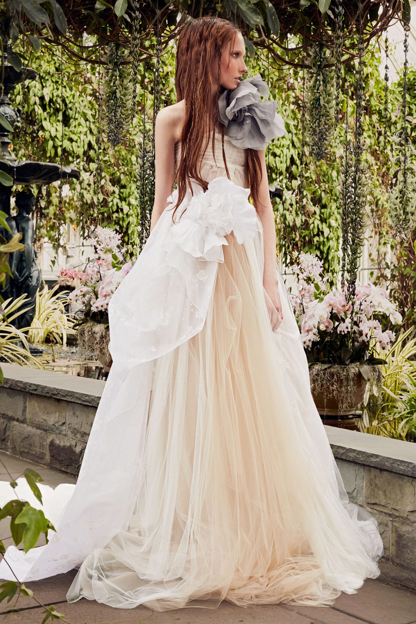 vera wang light salmon a-line wedding dress spring 2020