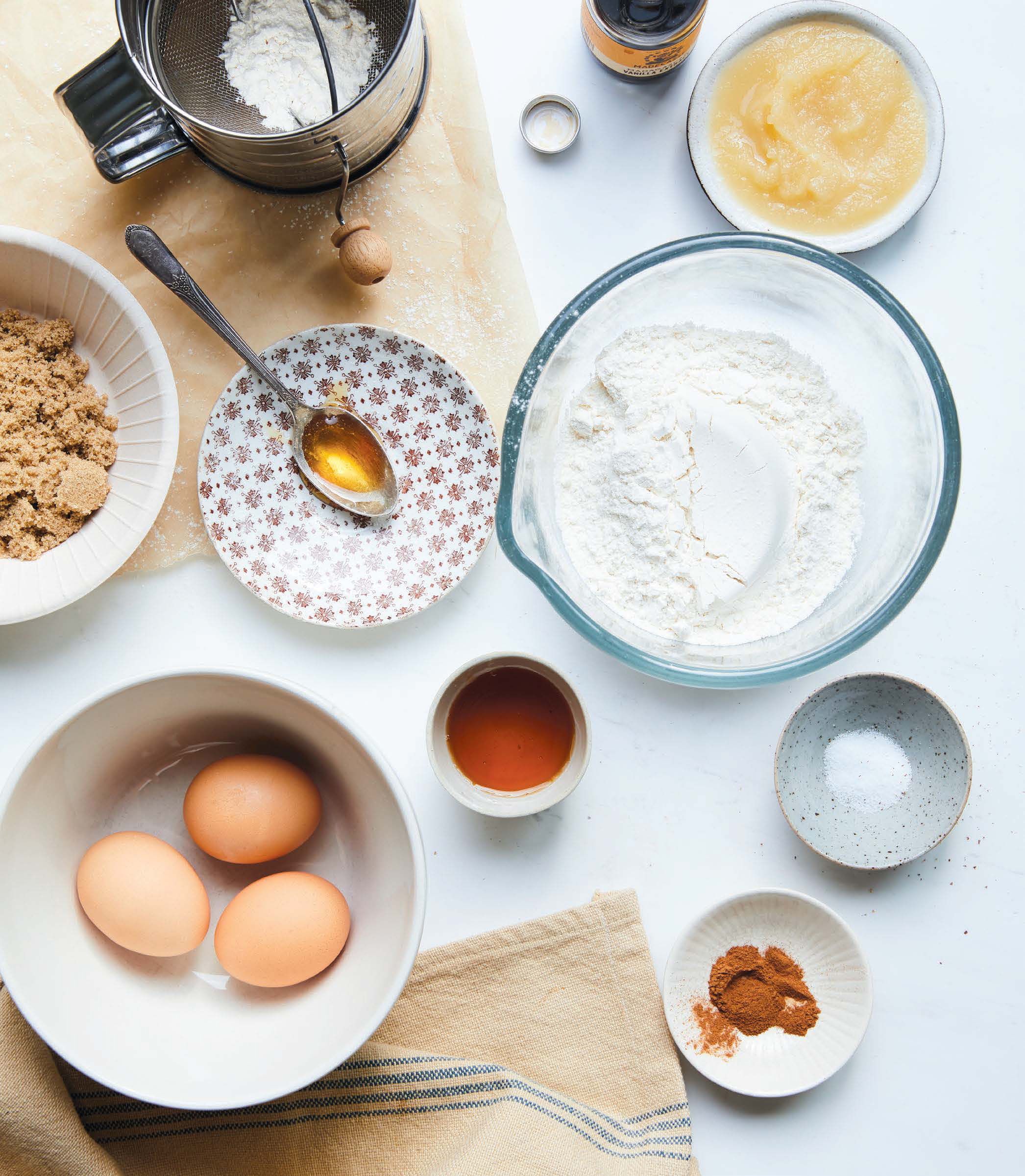 ingredients for cinnamon spice cake