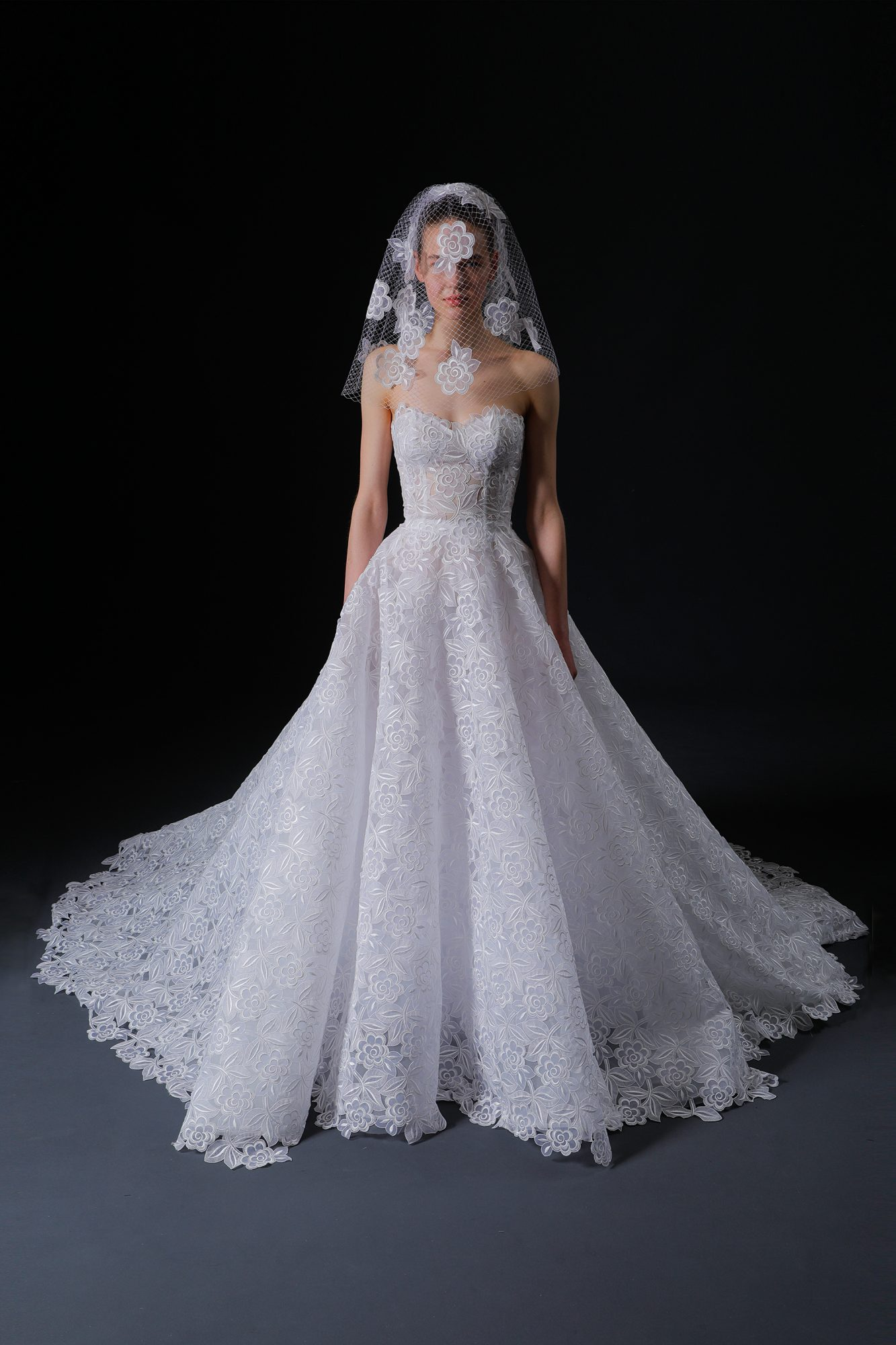 strapless sweetheart exposed boning lace a-line wedding dress Isabelle Armstrong Spring 2020