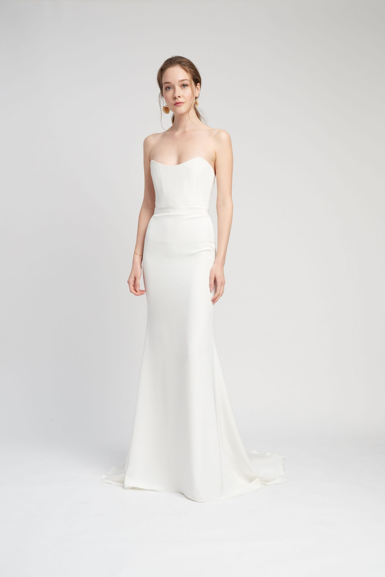 strapless scoop neck train a-line wedding dress Lover of Mine by Alexandra Grecco Spring 2020