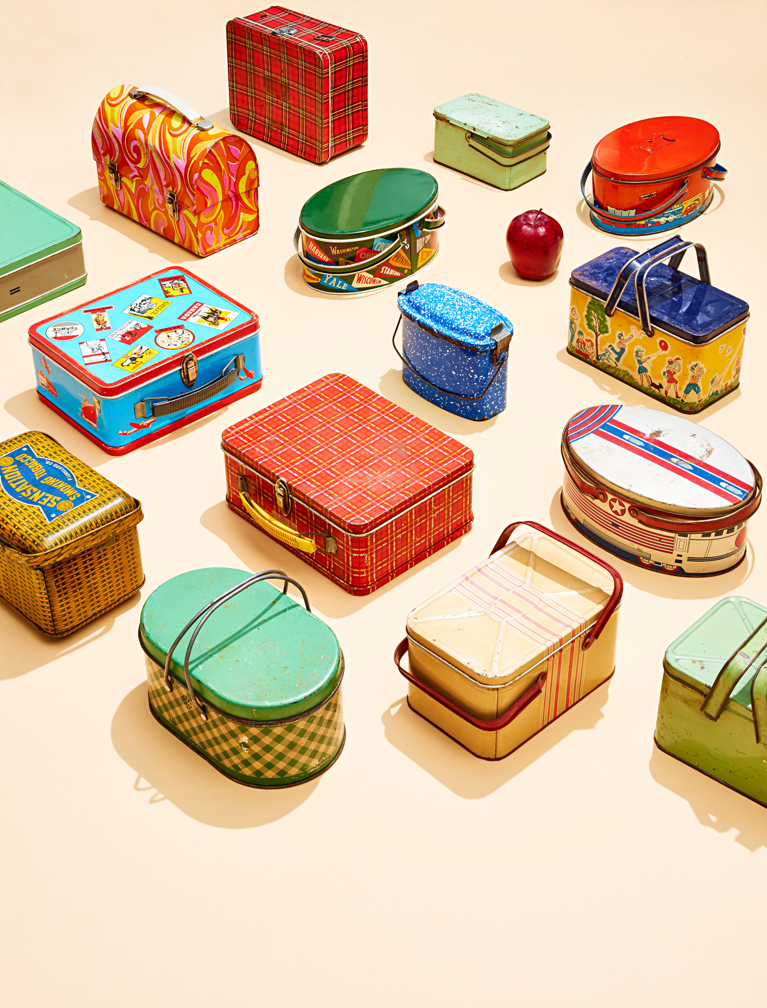 vintage metal lunch boxes