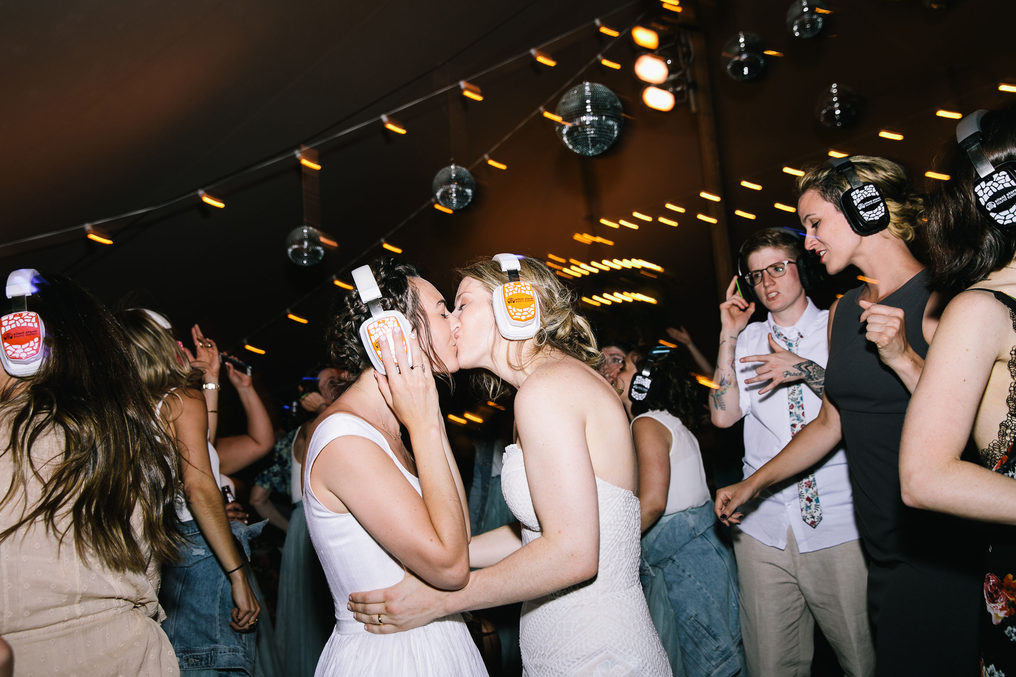 brides first dance silent disco