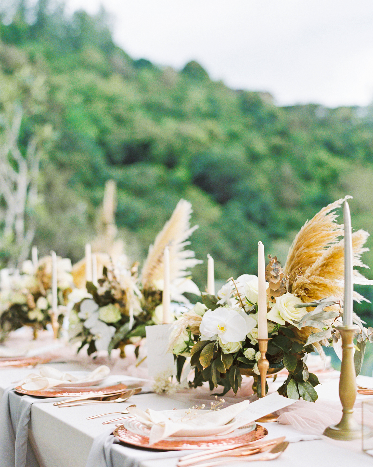 pampas grass ideas old meets new centerpieces