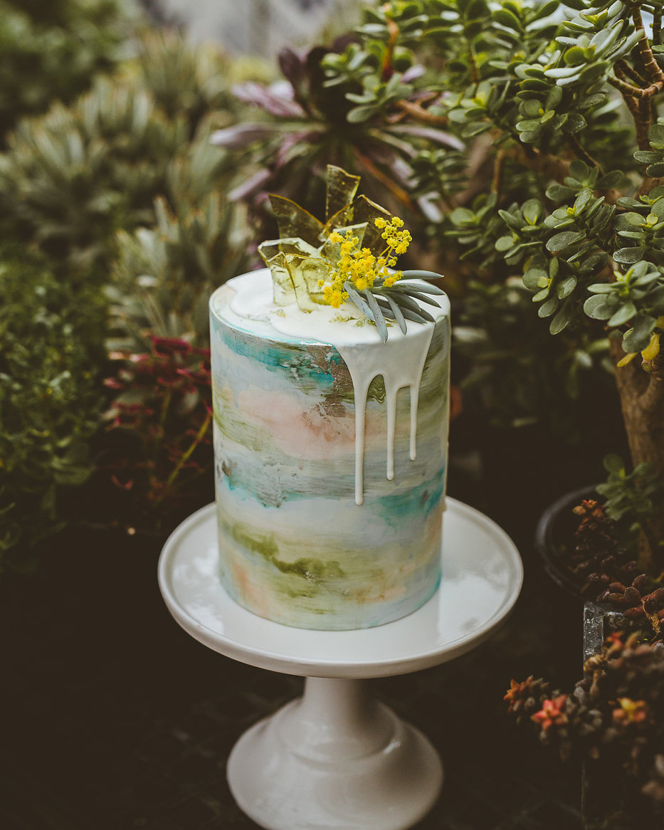 Watercolor Cake