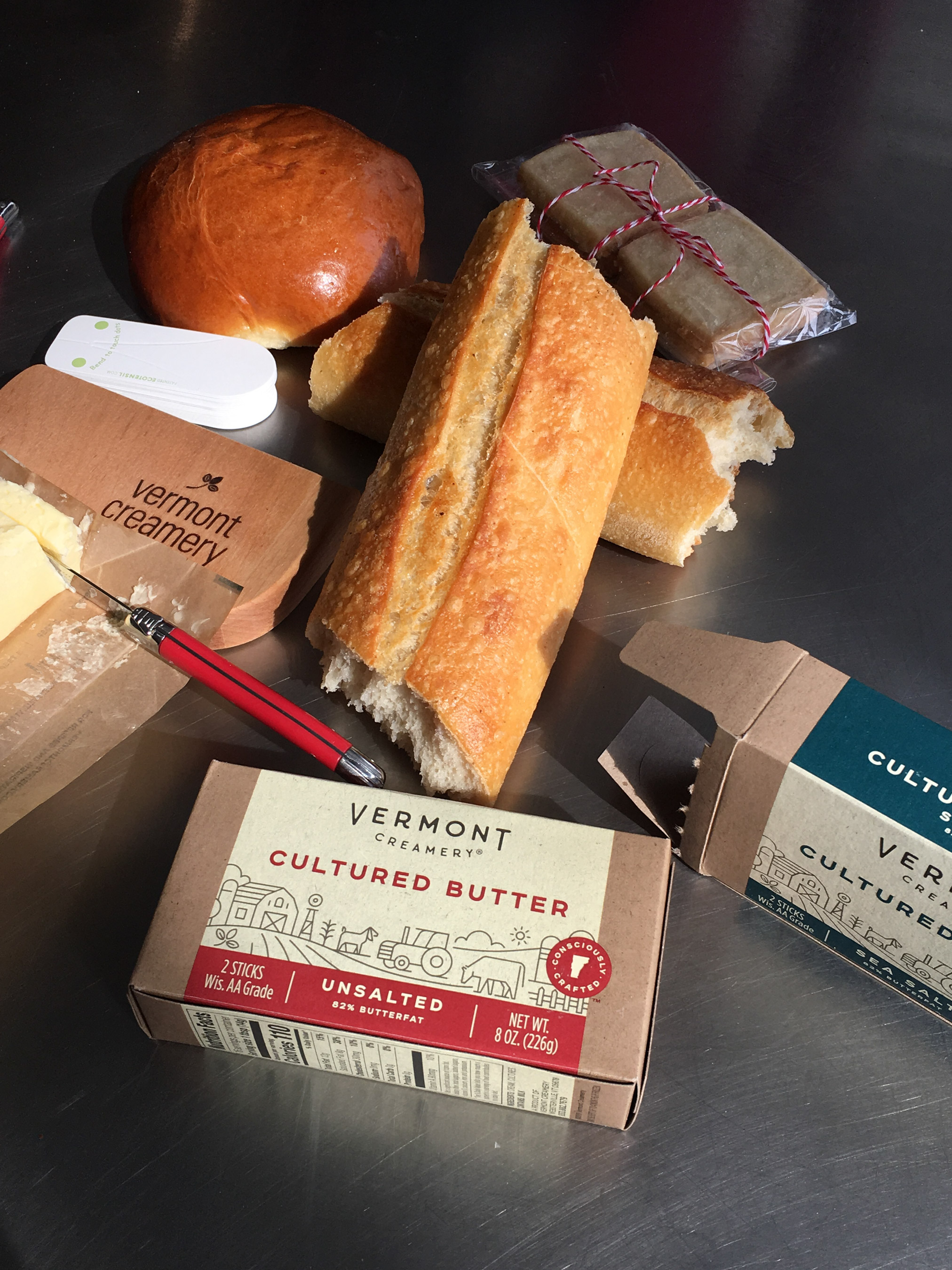 vermont creamery butter and breads